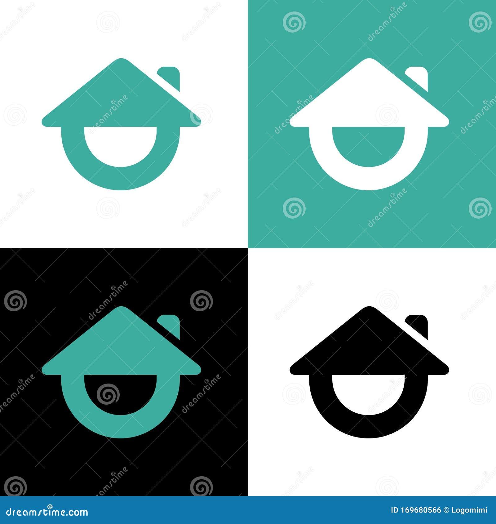 Happy House Logo Template, Comedy Club Icon Design, Smile ...