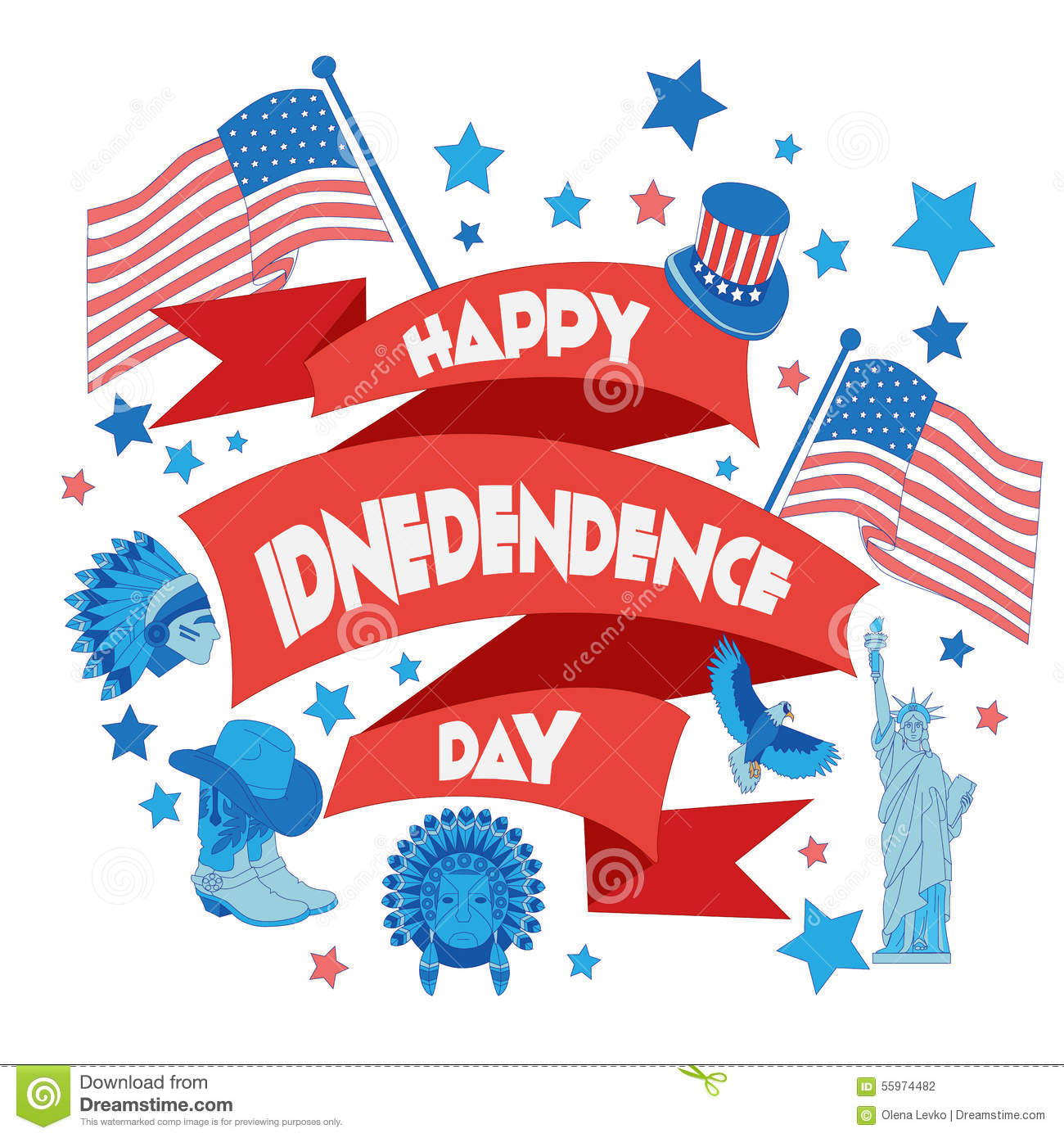 Happy Independence Banners Kid Clothing Banners
