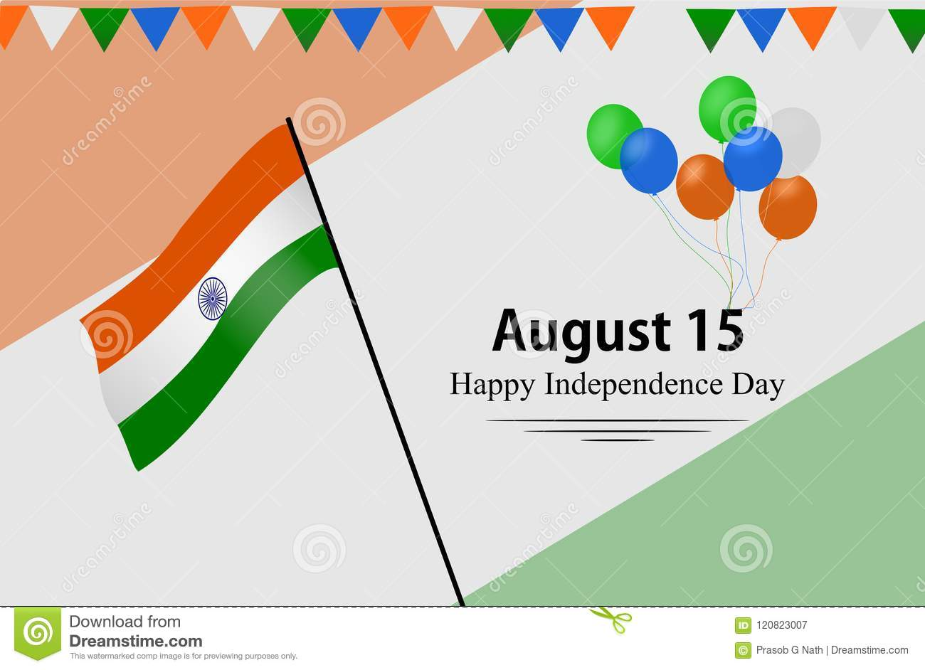 Happy Independence Day India Stock Vector - Illustration of