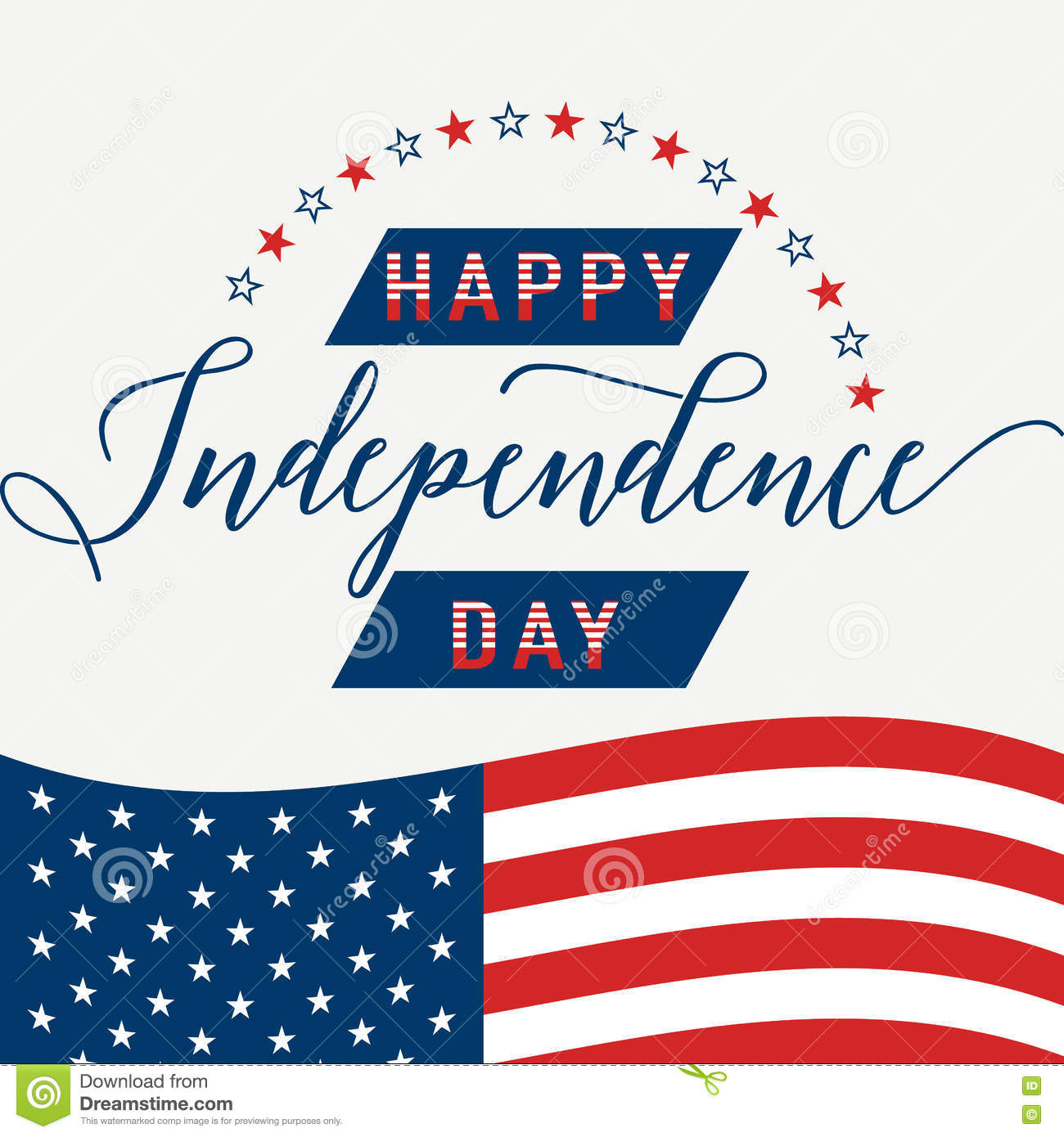 Happy Independence Day July 4th Fourth American Flag Patriotic