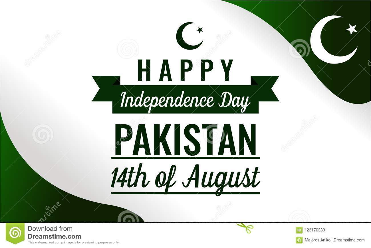 Happy Independence Day Pakistan Stock Vector - Illustration