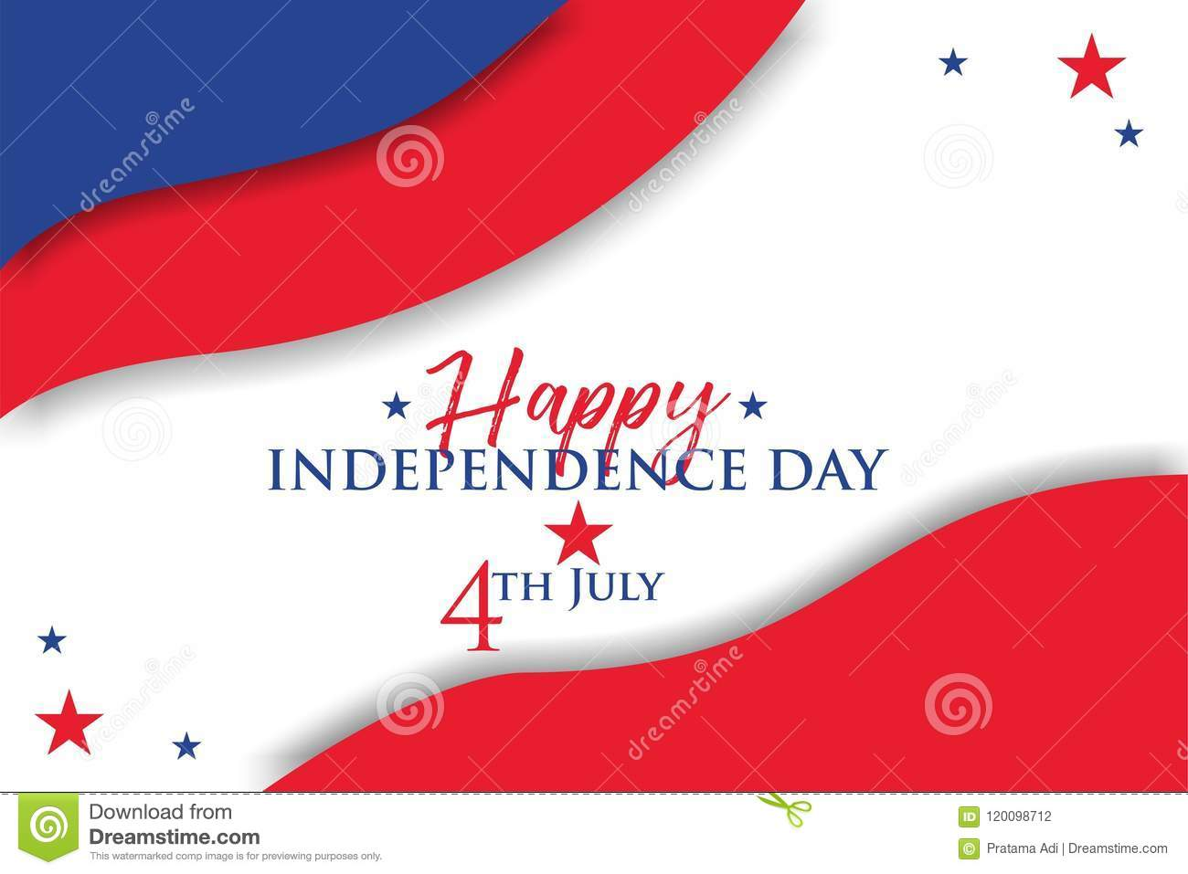 Happy Independence Day 4th July 2018 Stock Vector Illustration Of