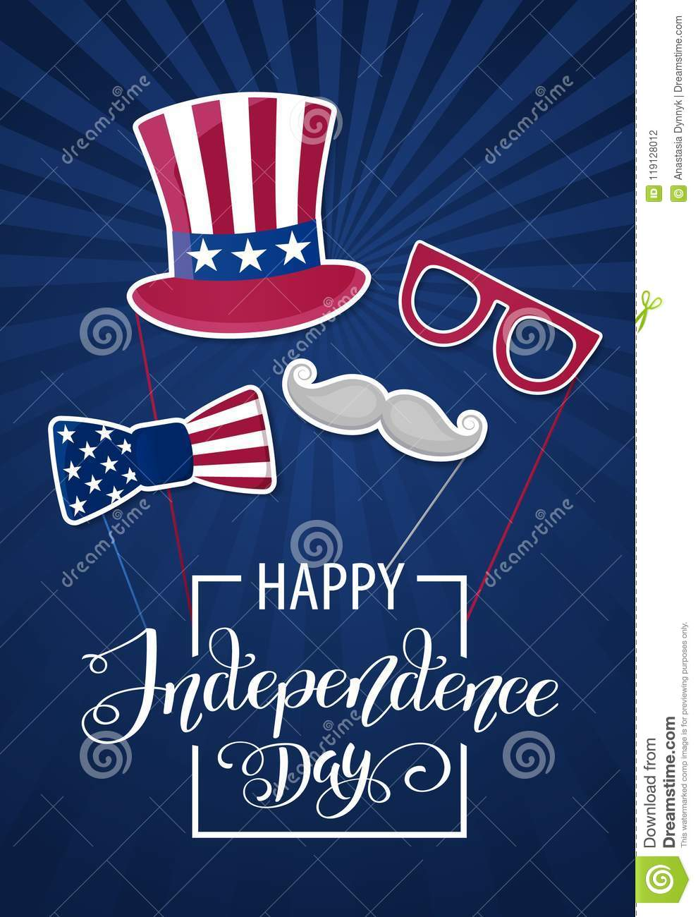 happy independence day usa fourth of july patriotic attributes