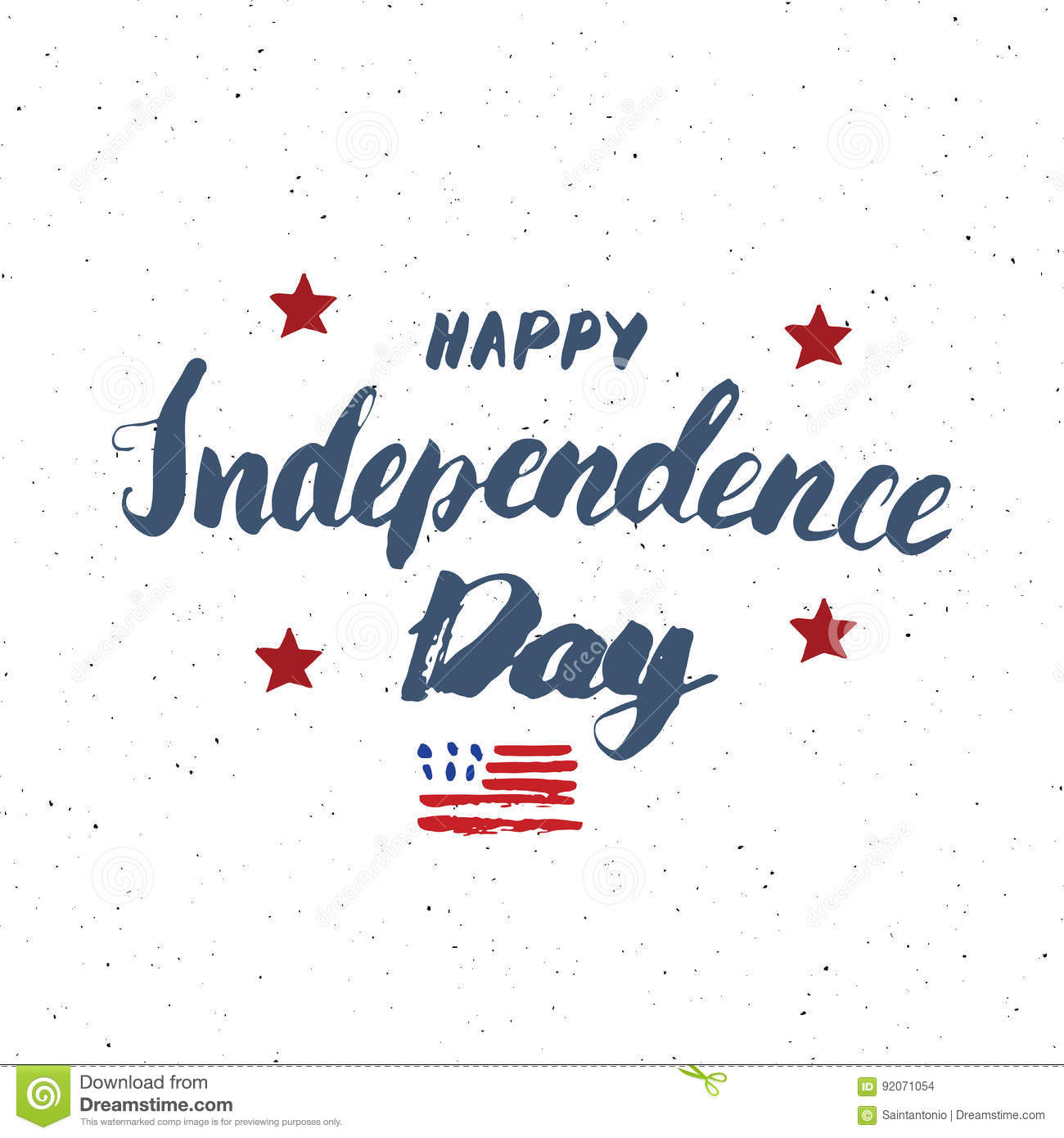 Happy Independence Day Vintage Usa Greeting Card United States Of