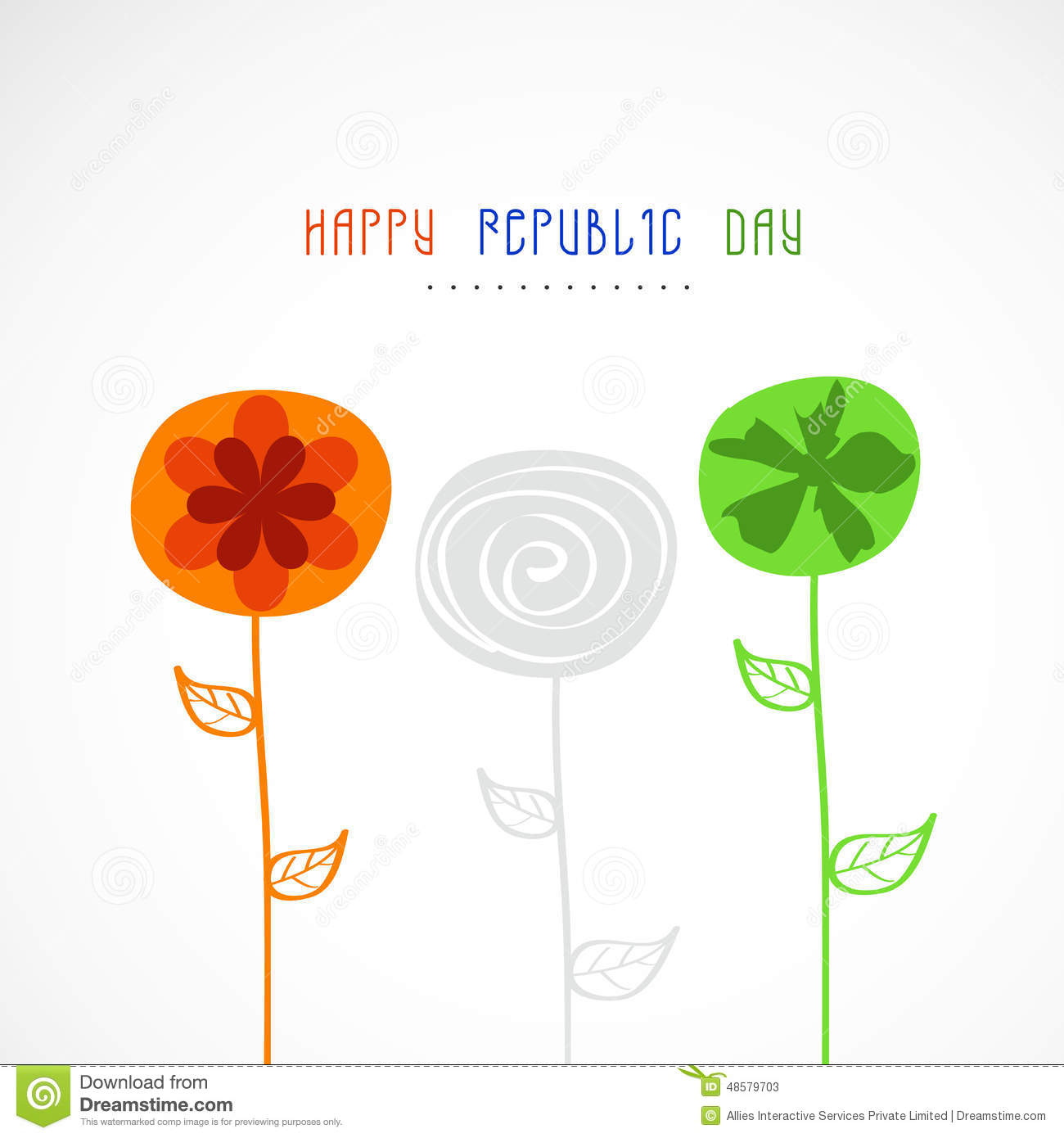 Happy indian republic day celebration greeting card stock happy indian republic day celebration greeting card m4hsunfo