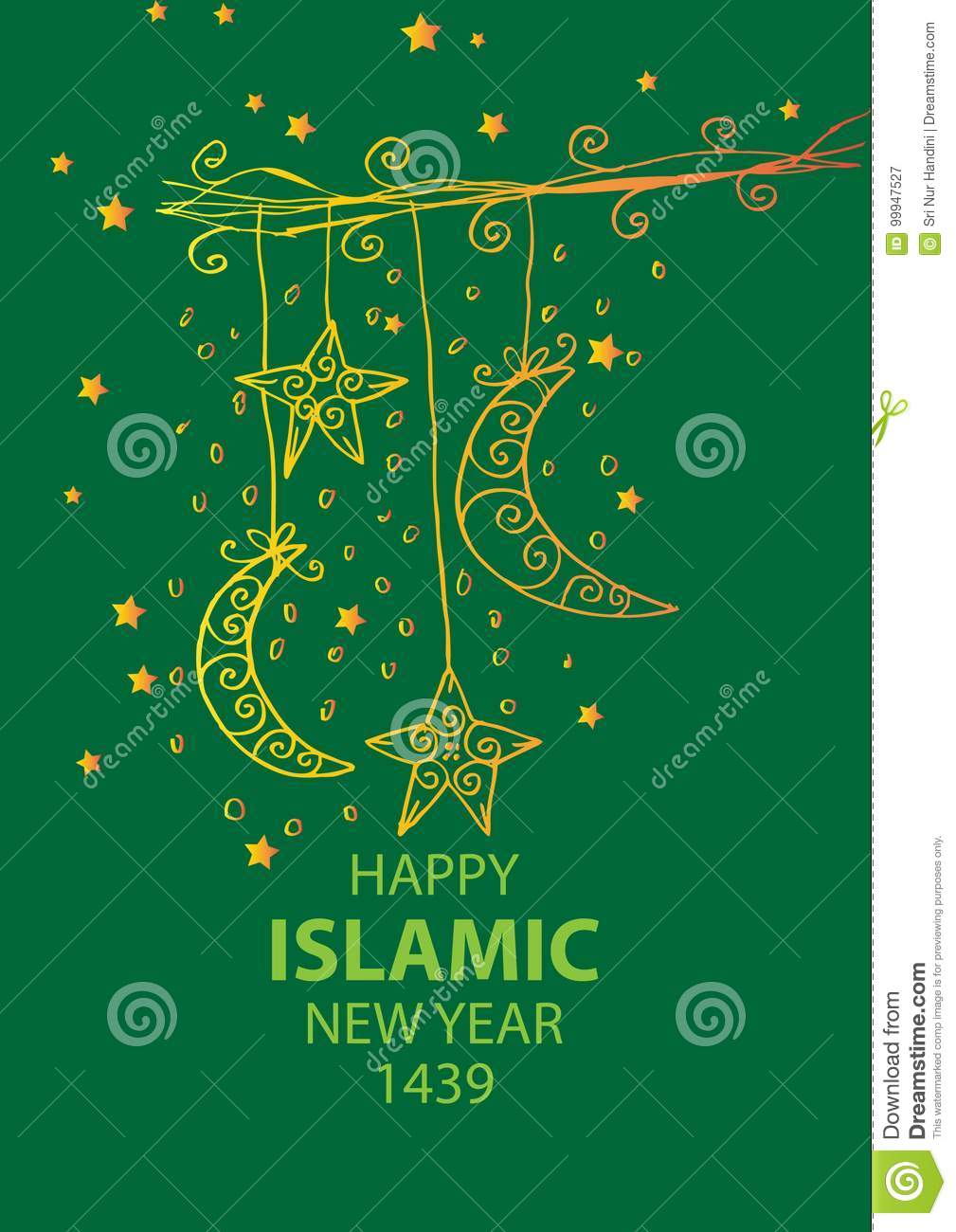 Happy islamic new year 1439 stock illustration illustration of download happy islamic new year 1439 stock illustration illustration of card greeting 99947527 m4hsunfo