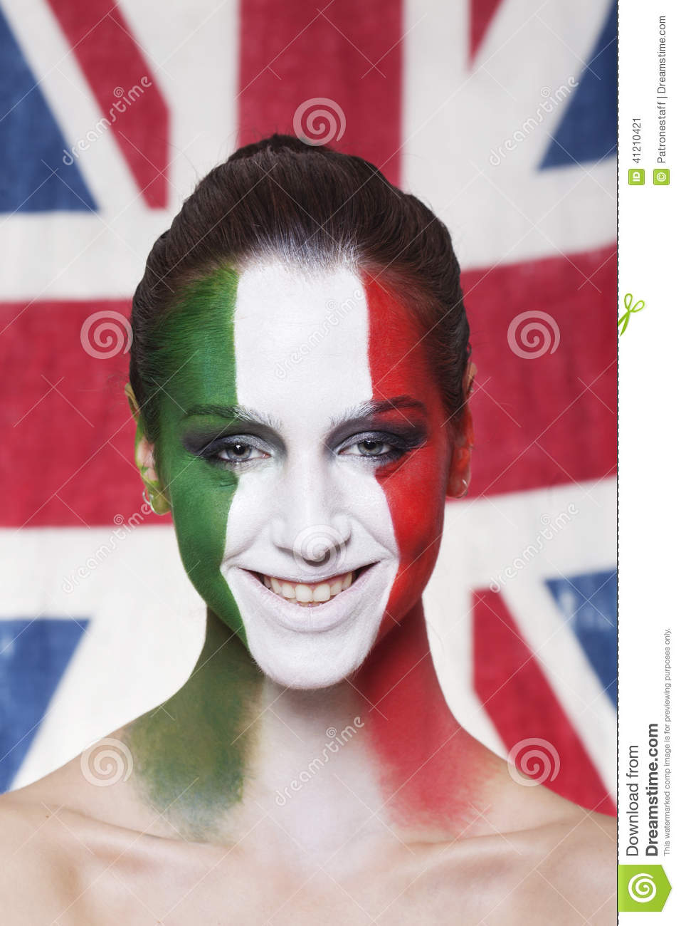Happy italian supporter for FIFA 2014 during Italy VS England