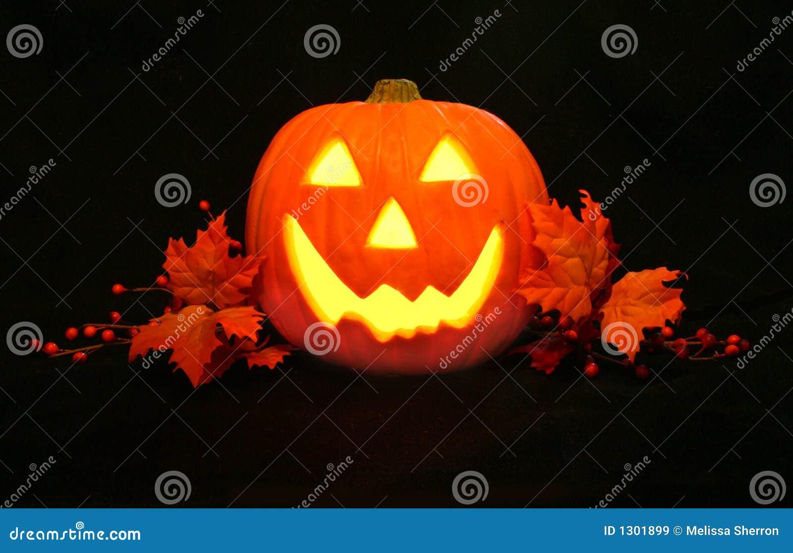 Happy Jack O Lantern Face Stock Image Image Of Pumpkin 1301899