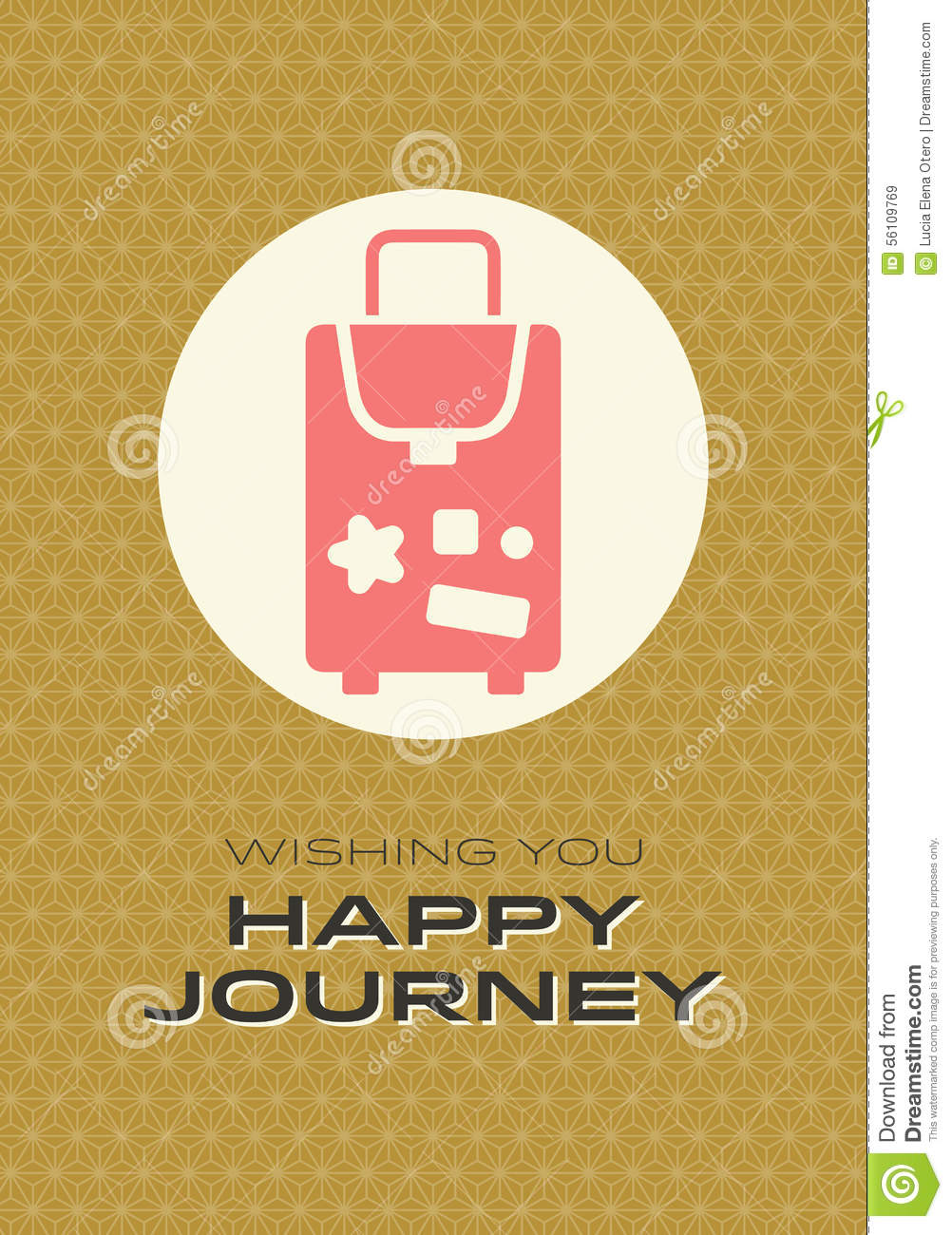 Happy Journey Card Stock Vector Illustration Of Brown 56109769