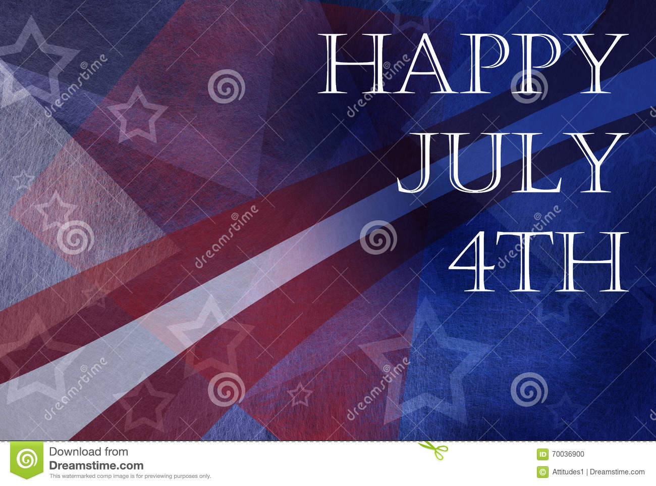 Happy july 4th background design with stripes and stars in for Th background color