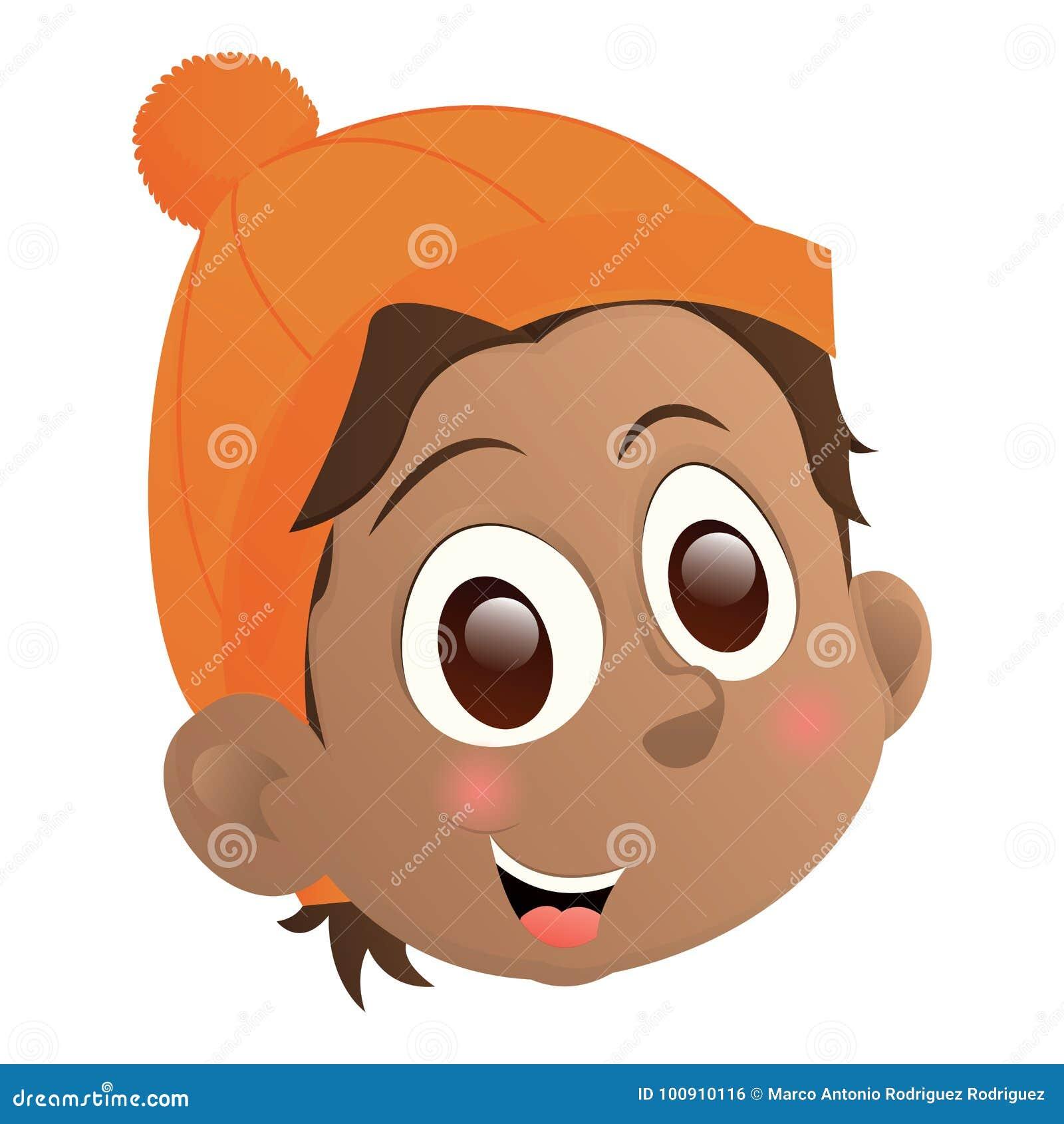 Happy Kid Avatar Stock Vector