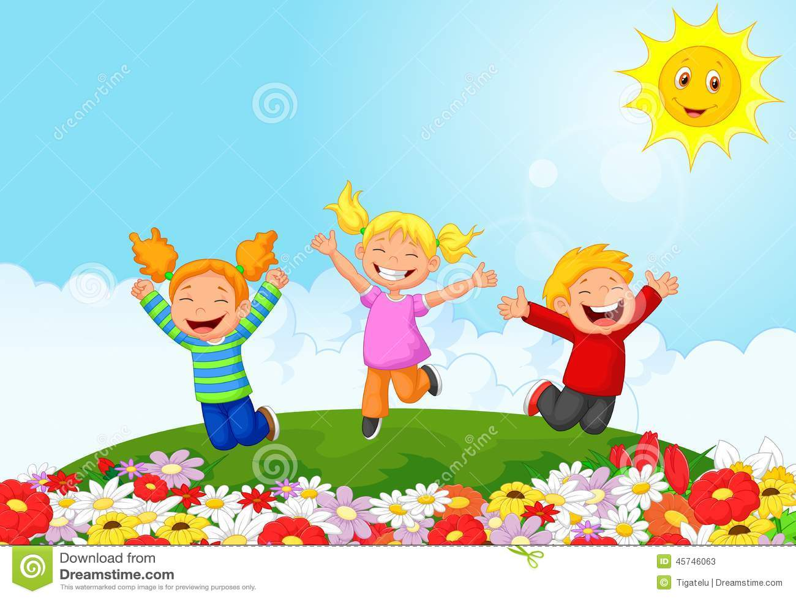 Happy kid cartoon stock vector. Illustration of child ...