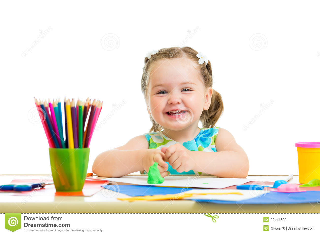 royalty free stock photo - Kid Drawing Picture