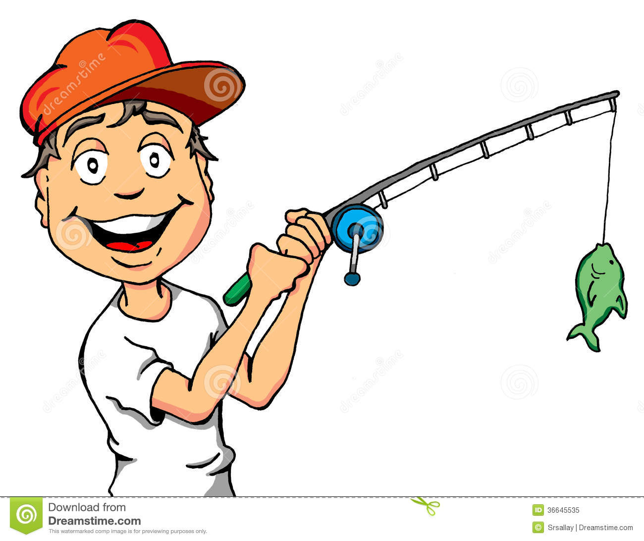 Happy kid with a fish royalty free stock photo image for Fishing times free