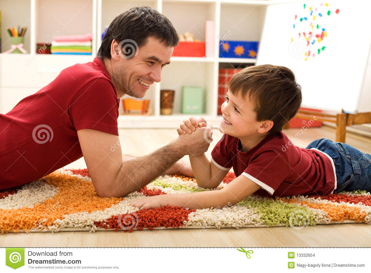 happy kid and his father arm wrestling stock images boy reading clip art boy reading clipart coloring pages