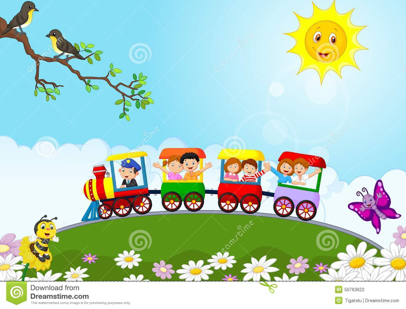 Cartoon Train Stock Illustrations 11 340 Cartoon Train Stock