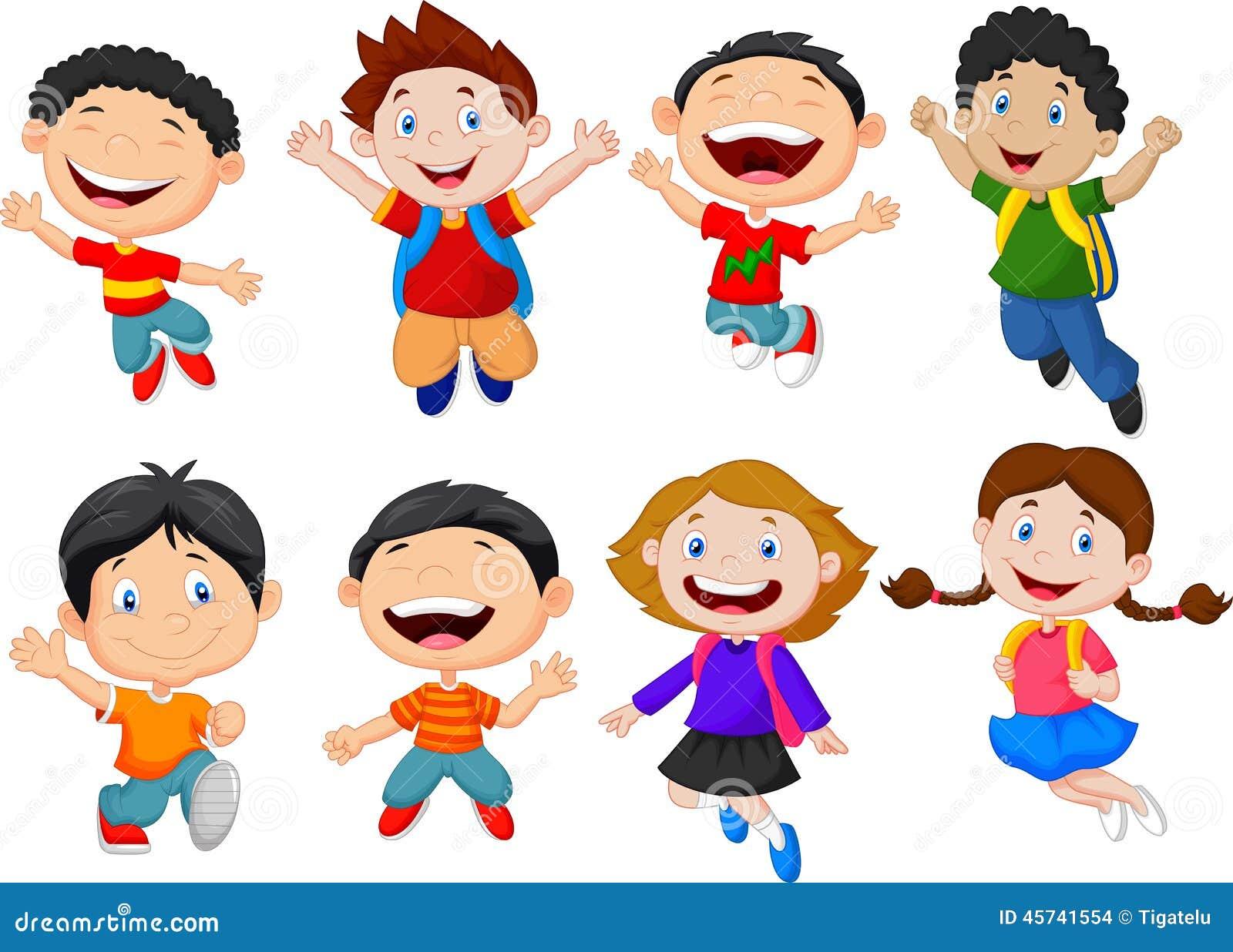 Happy kids cartoon stock vector. Illustration of isolated ...