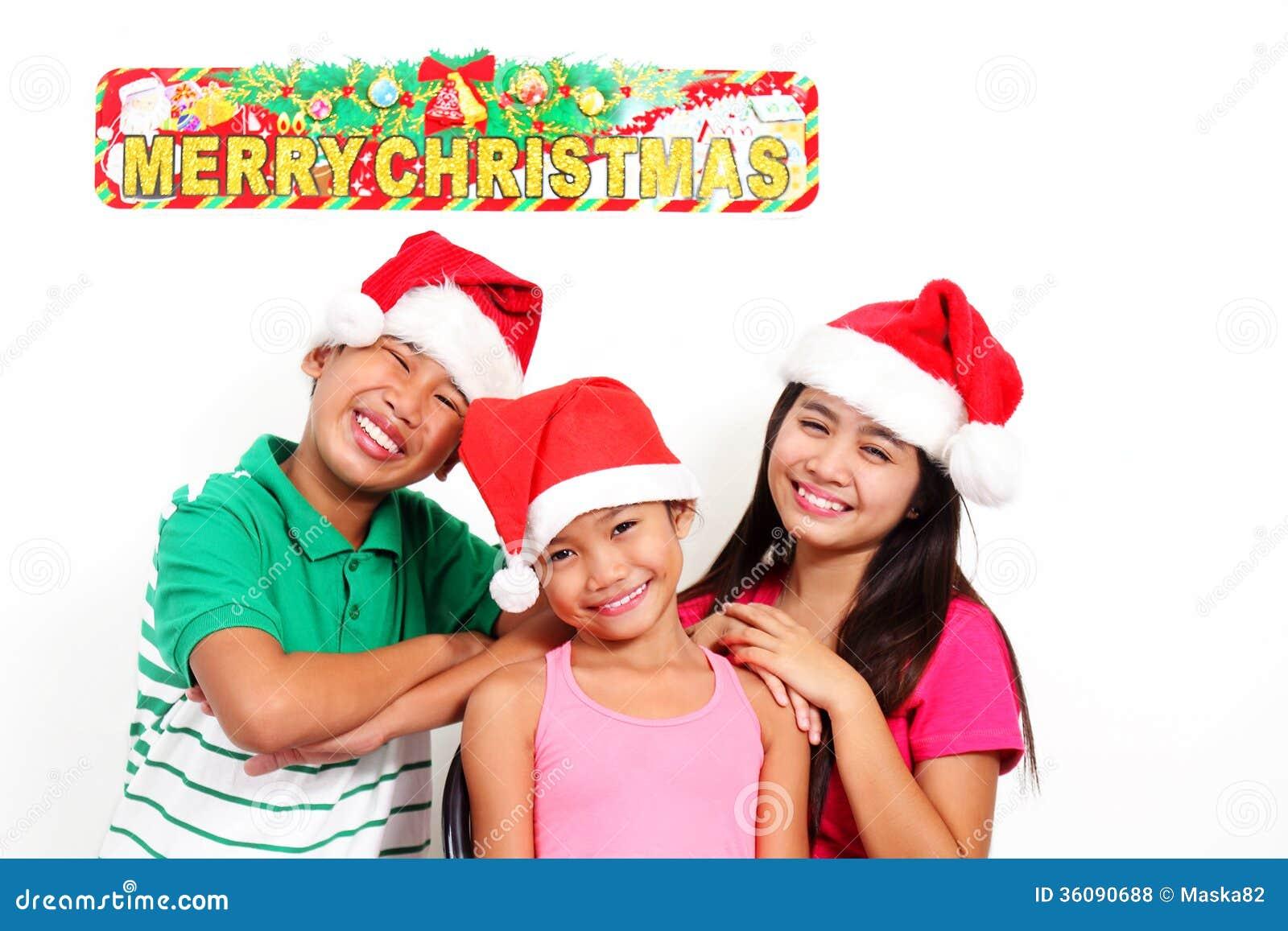 Happy Kids At Christmas Royalty Free Stock Photos - Image: 36090688