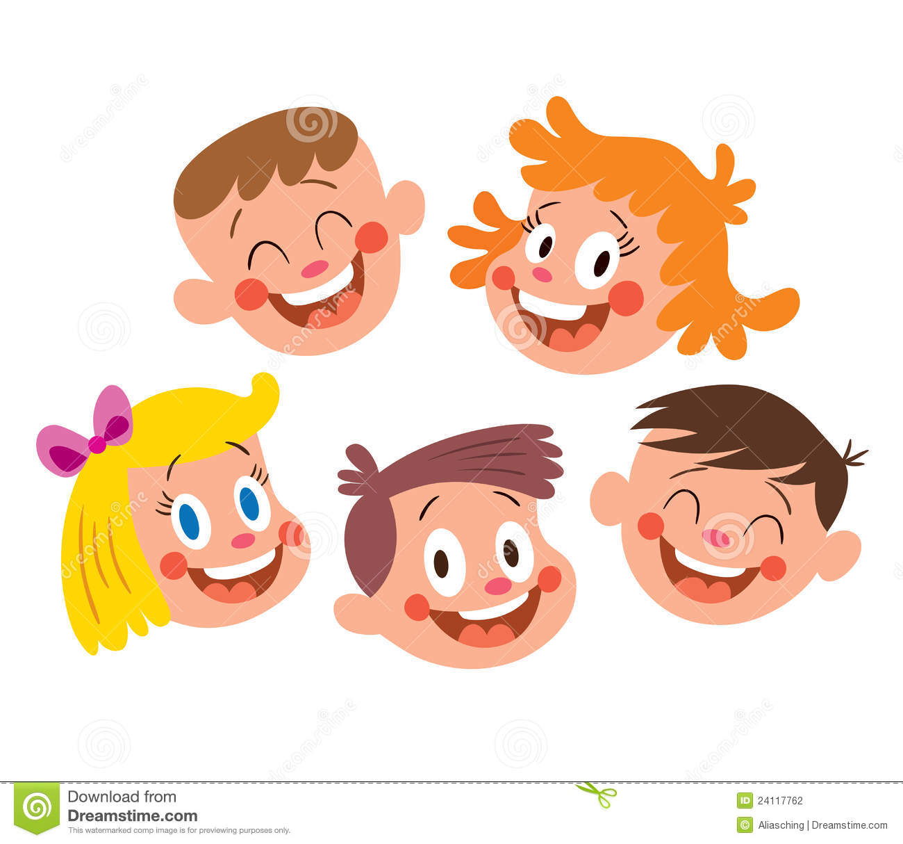 Happy kids faces stock vector. Illustration of creative ...
