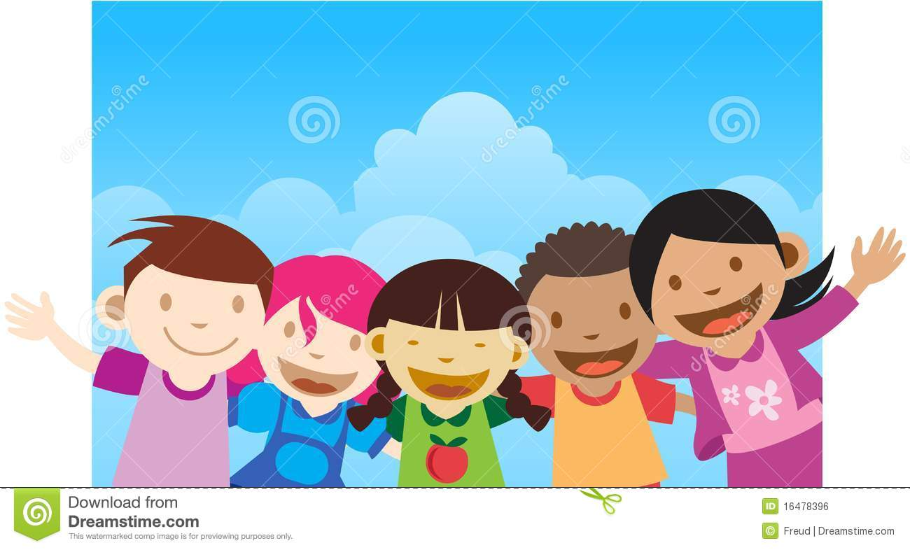 Happy kids greeting stock illustration illustration of european happy kids greeting m4hsunfo