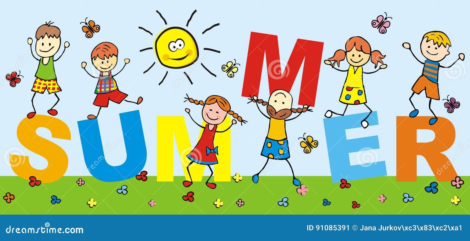 Happy Kids, Holiday, Summer,word, Banner Stock Vector - Illustration ...