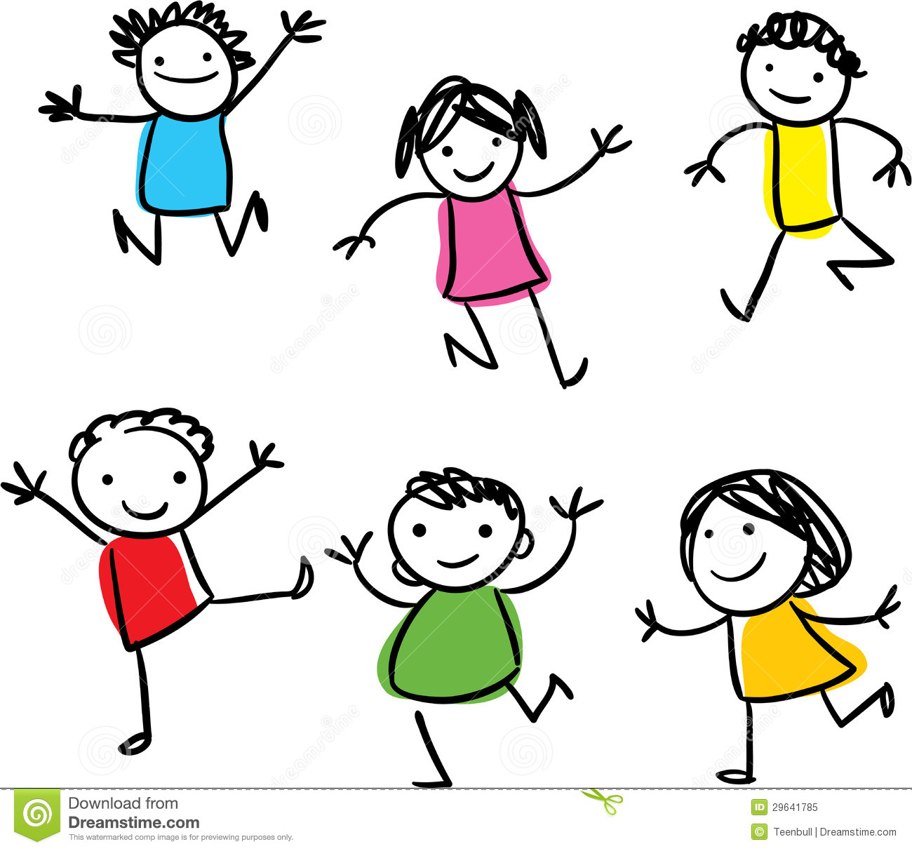 happy kids jumping stock illustration. illustration of icon - 29641785