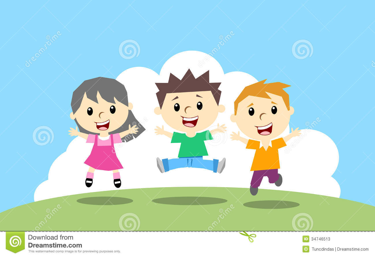 2020 Other | Images: Happy Jumping Kids Clipart