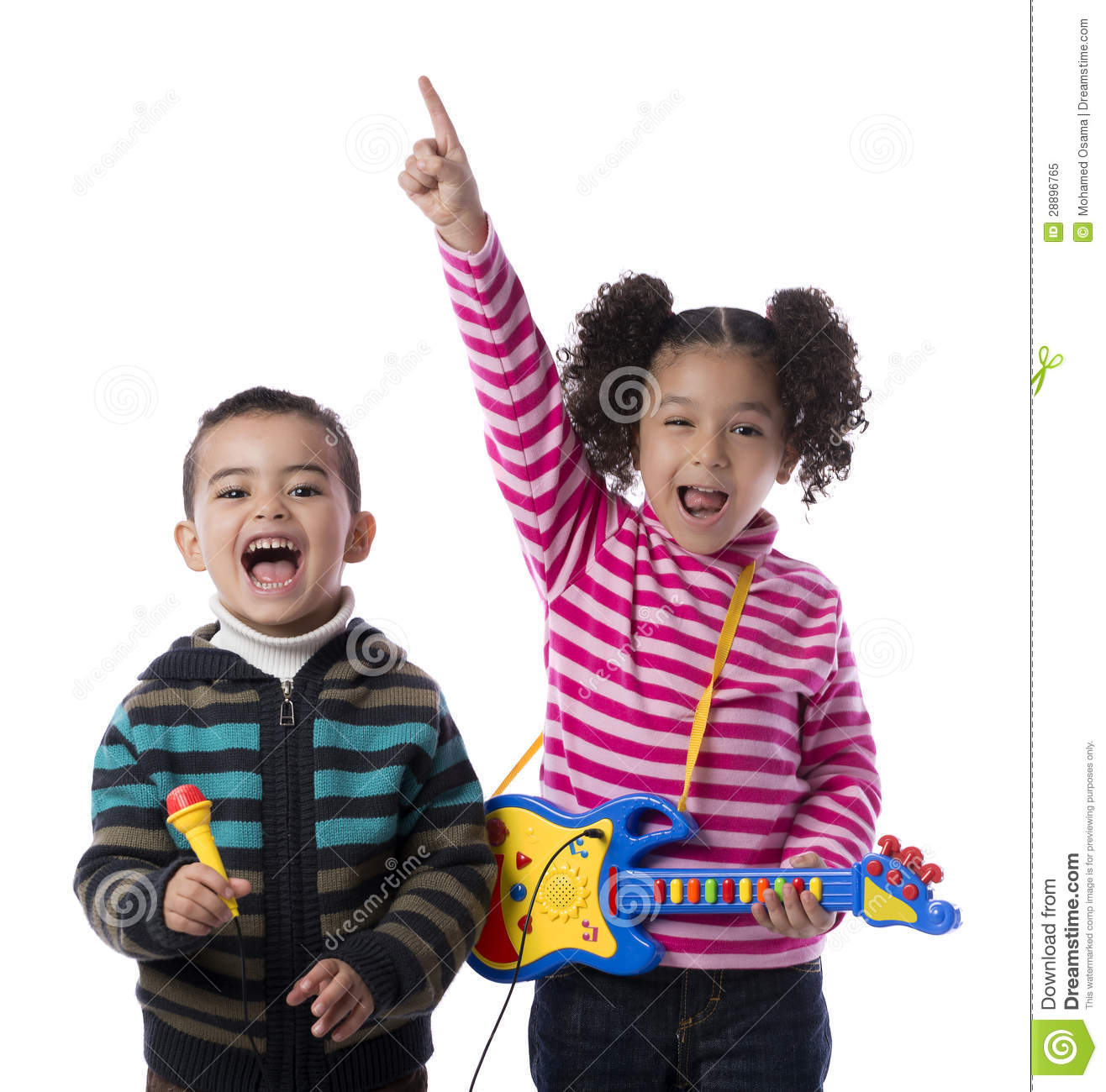 Happy Kids Music Band stock image. Image of awesome ...
