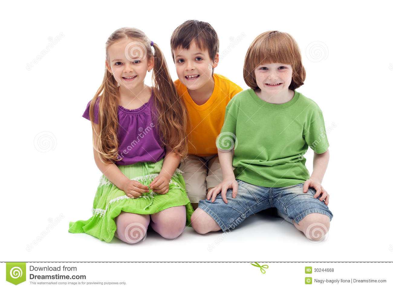 Happy kids sitting on the floor royalty free stock photos for On the floor