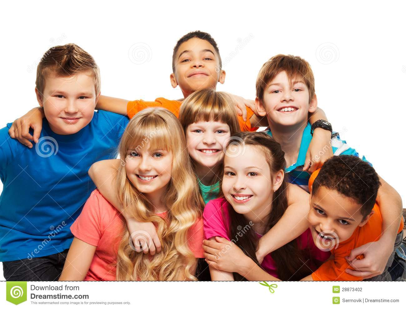 Happy Kids Together Hugging Stock Photography - Image: 28873402