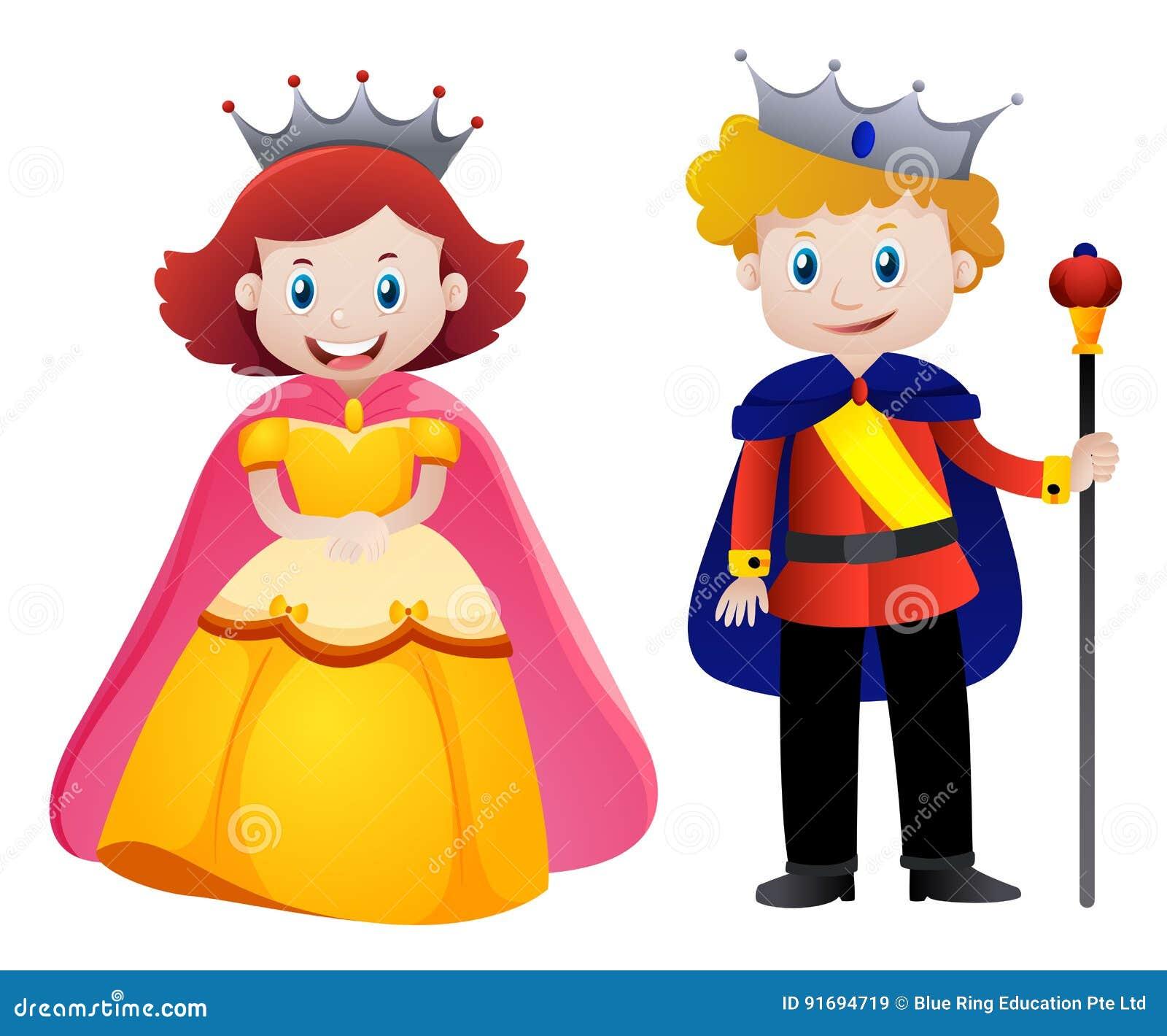 happy king and queen stock vector illustration of clipart 91694719 rh dreamstime com queen clip art pictures queen clip art pictures