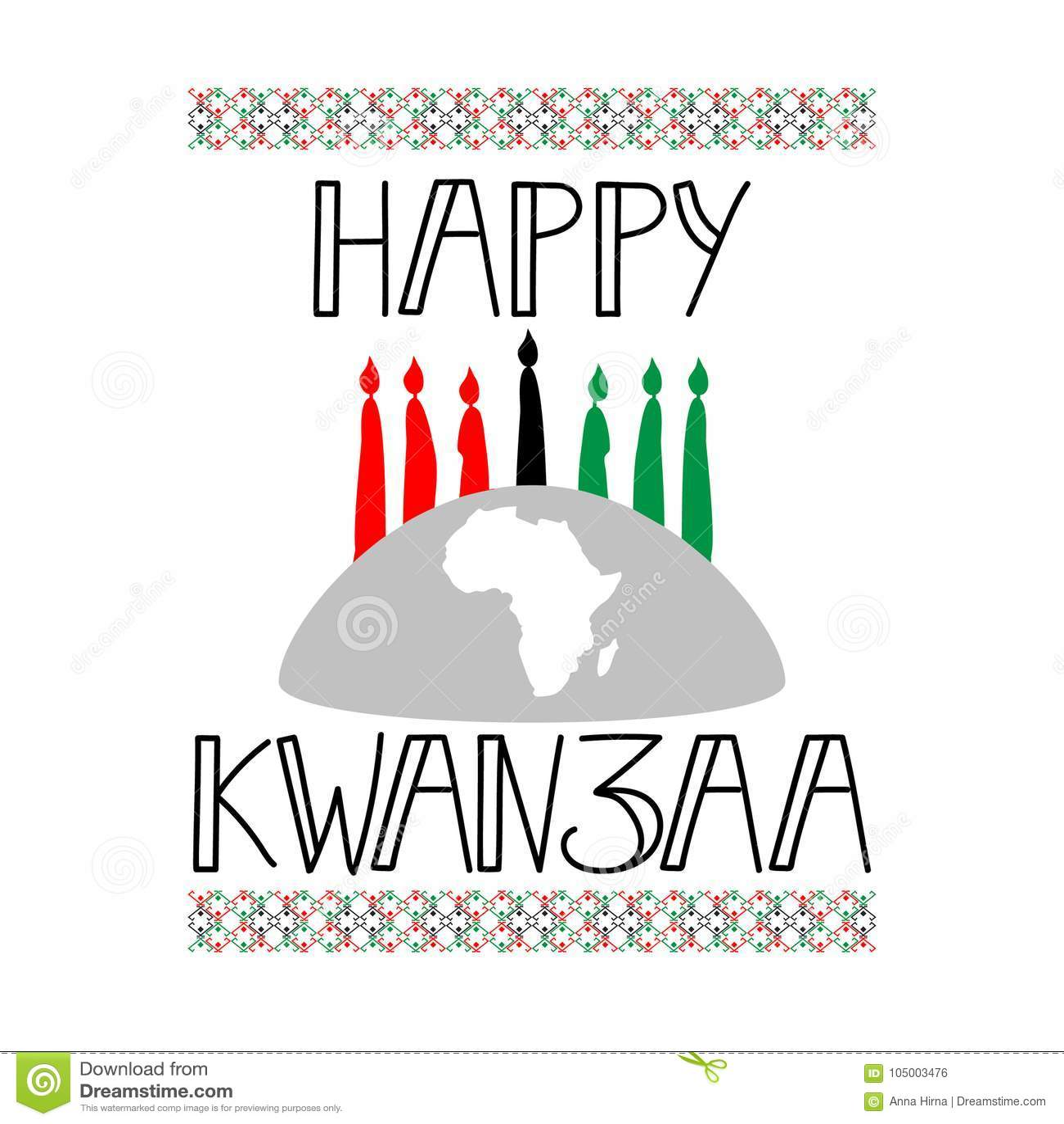 Happy kwanzaa decorative greeting card stock illustration happy kwanzaa decorative greeting card africanamerican 26th kristyandbryce Gallery