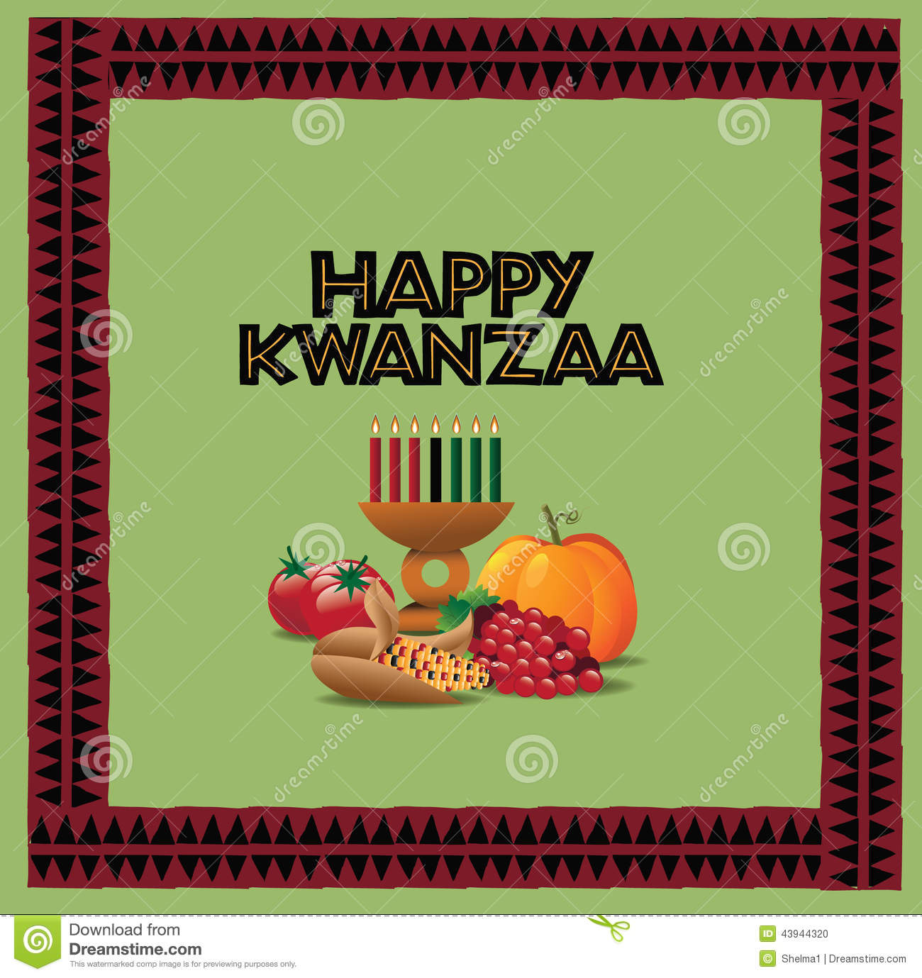 Happy kwanzaa greeting card design stock vector illustration of happy kwanzaa greeting card design m4hsunfo