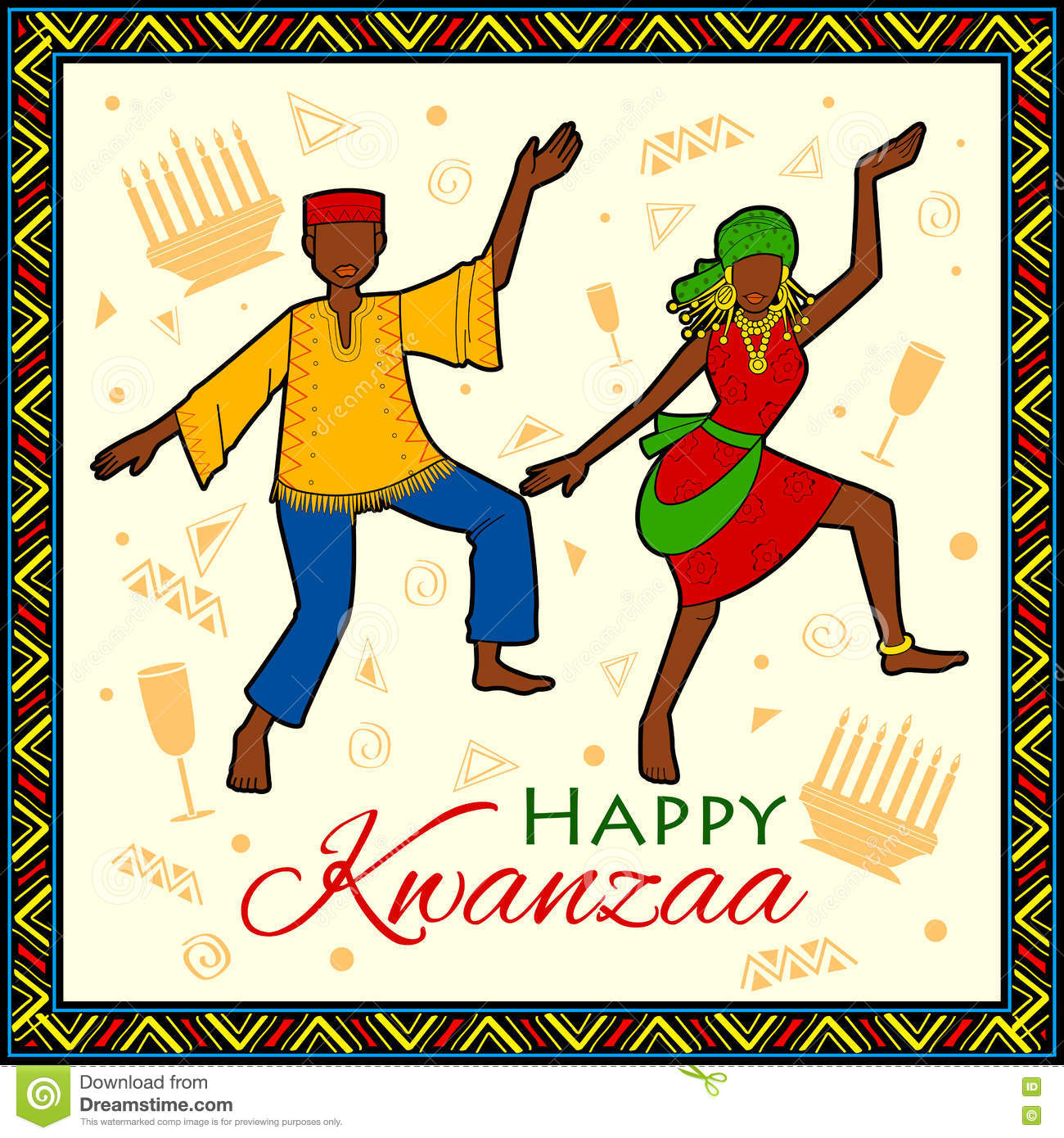 Happy kwanzaa greetings for celebration of african american royalty free vector download happy kwanzaa greetings for celebration of african american holiday kristyandbryce Images