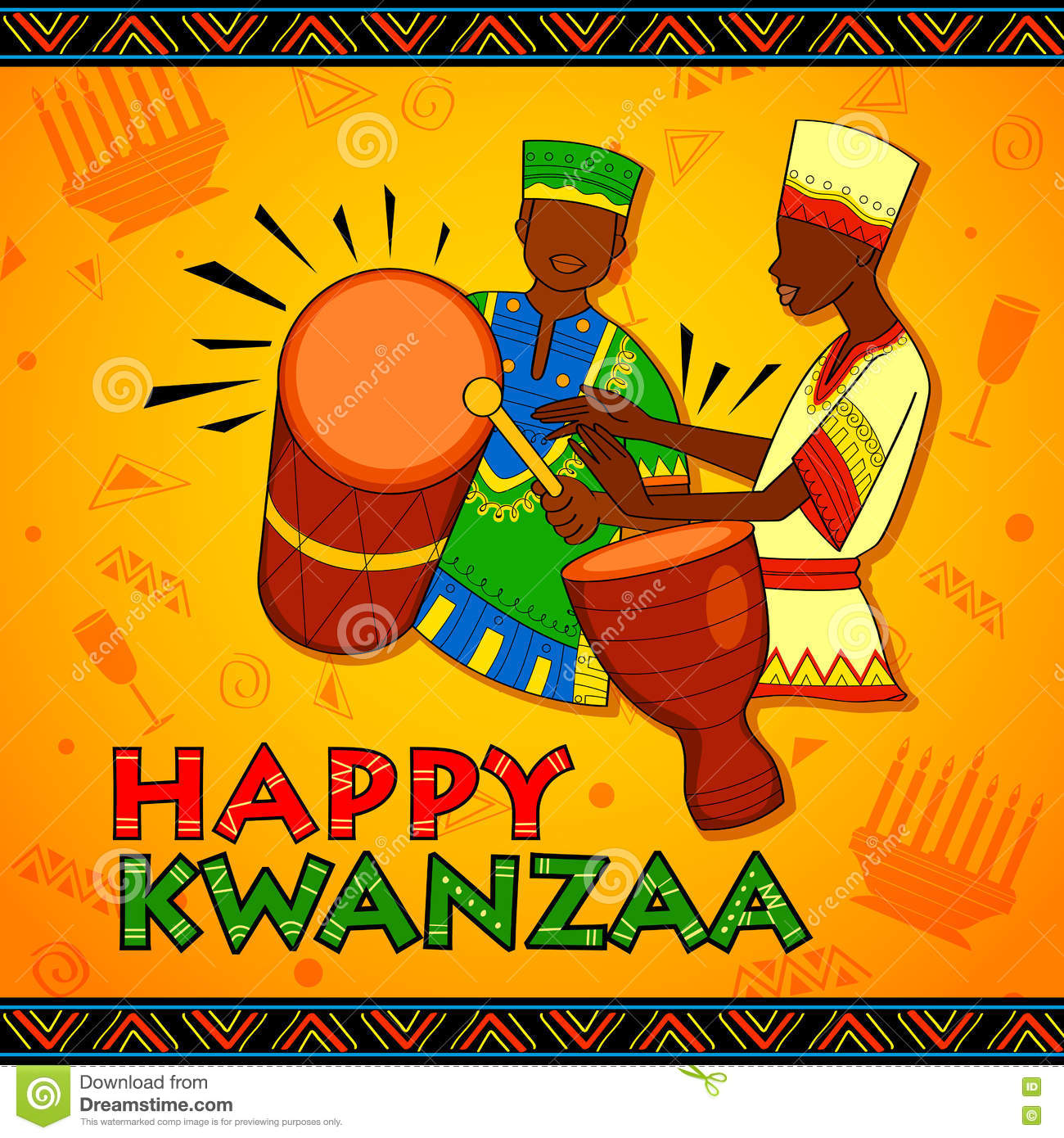 Happy kwanzaa greetings for celebration of african american holiday download comp m4hsunfo