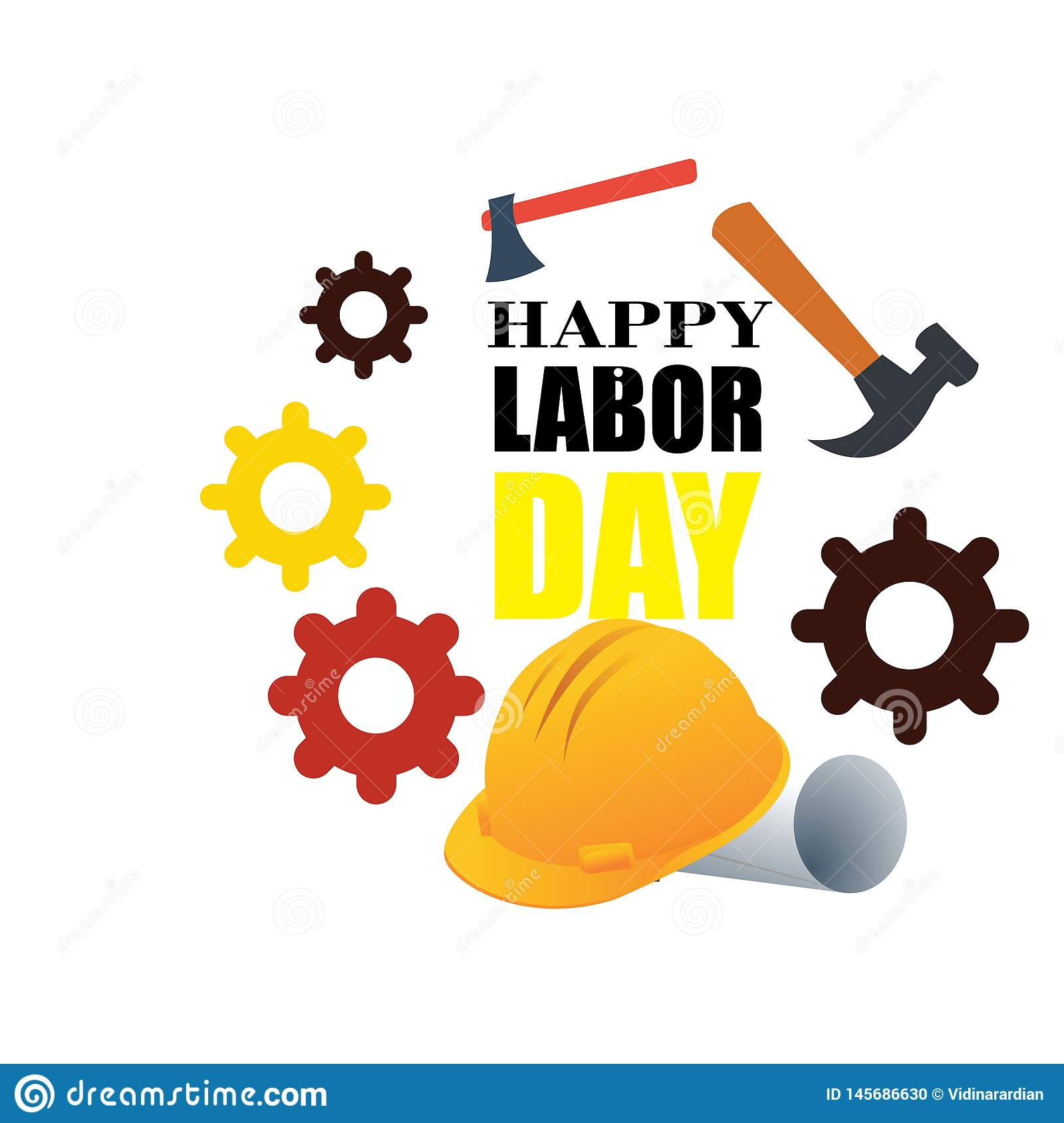 Happy Labor Day banner. Design template. Vector illustration - Vector