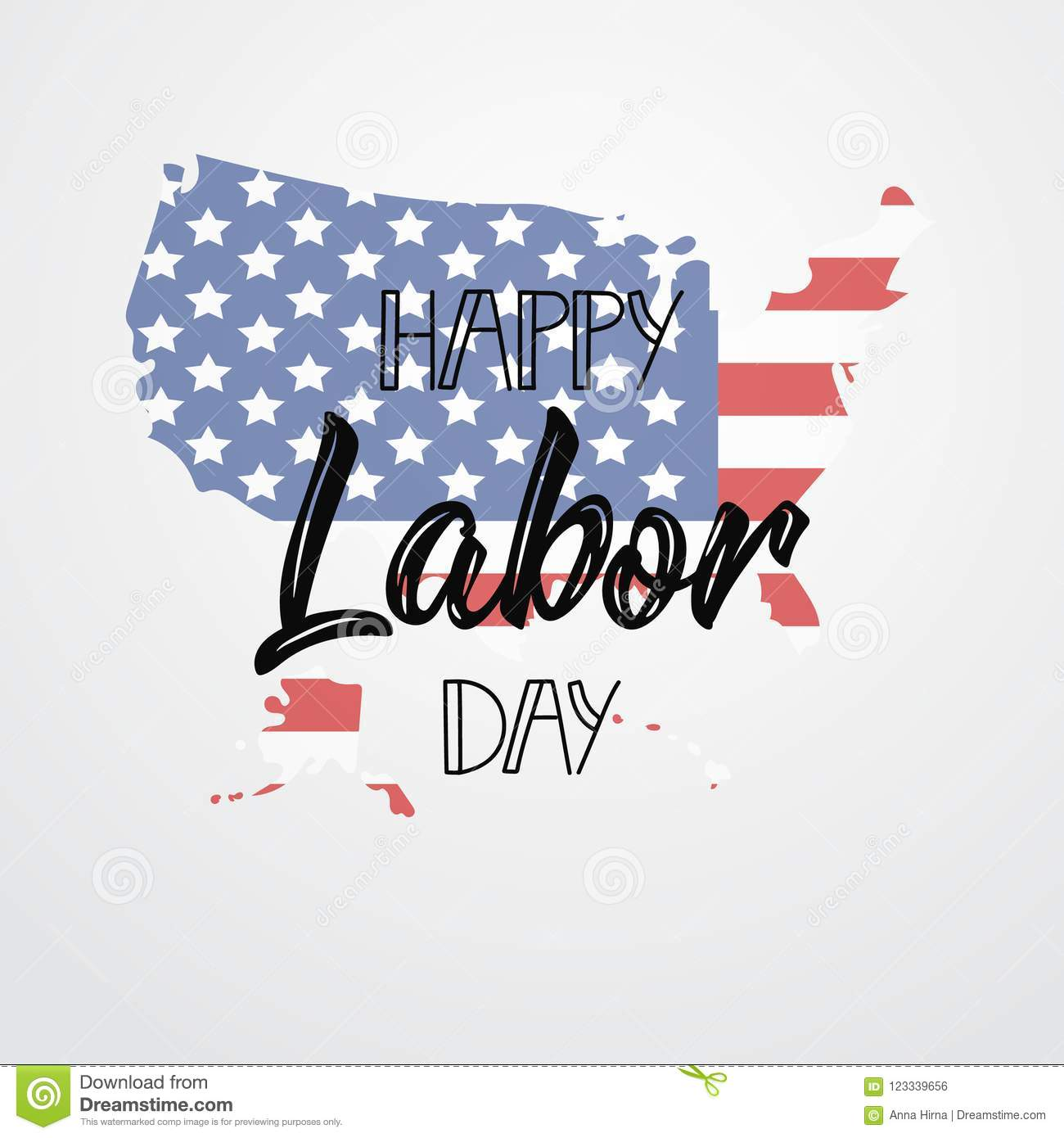 Happy Labor Day Lettering Background Graphic Design For
