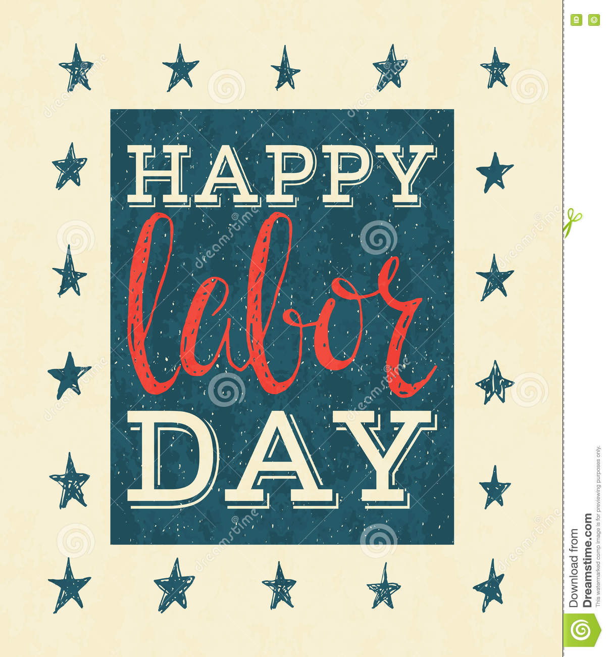 Happy labor day poster stock vector illustration of celebration happy labor day poster kristyandbryce Image collections