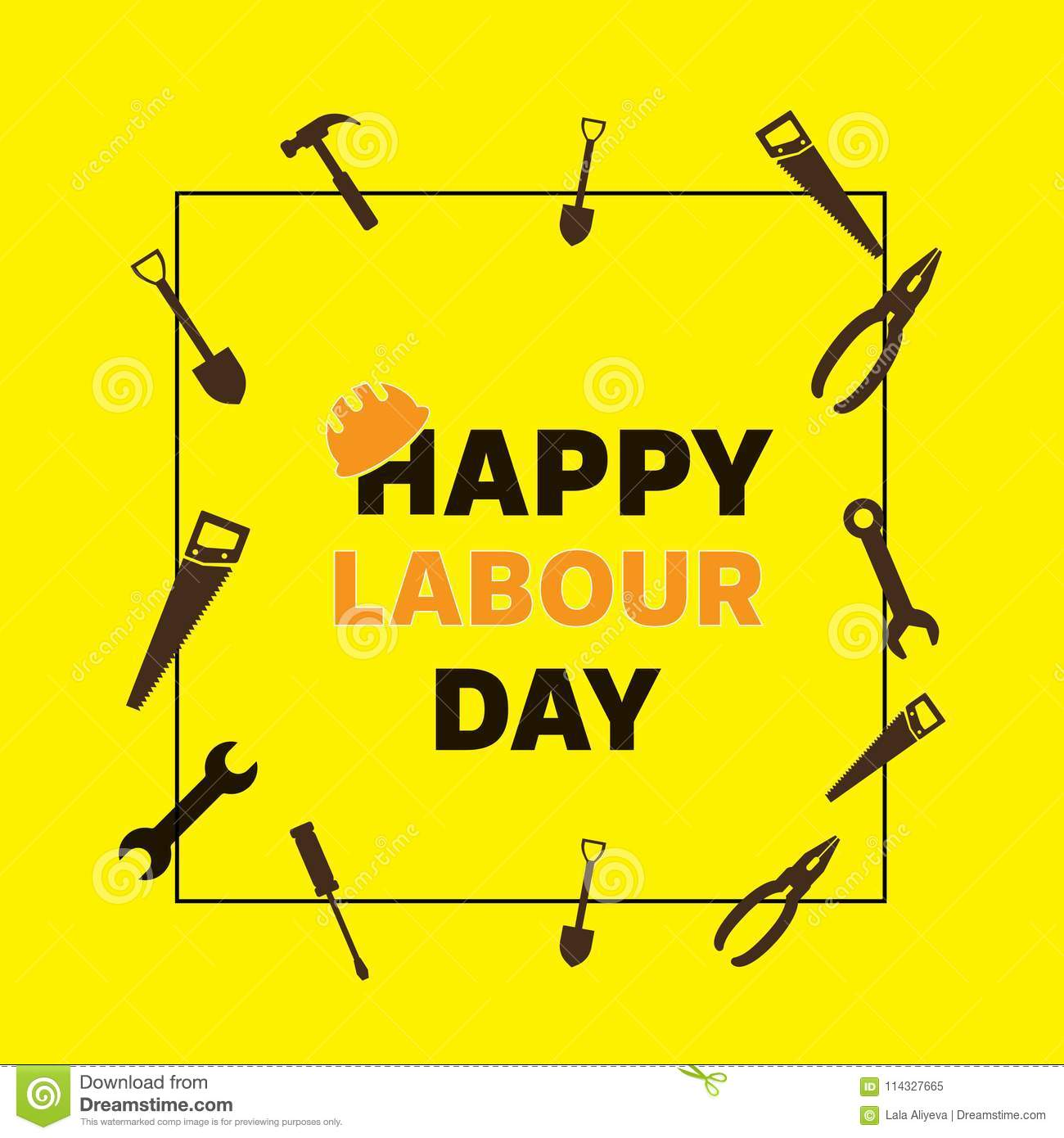 Happy labour day greeting card poster vector stock vector download comp m4hsunfo