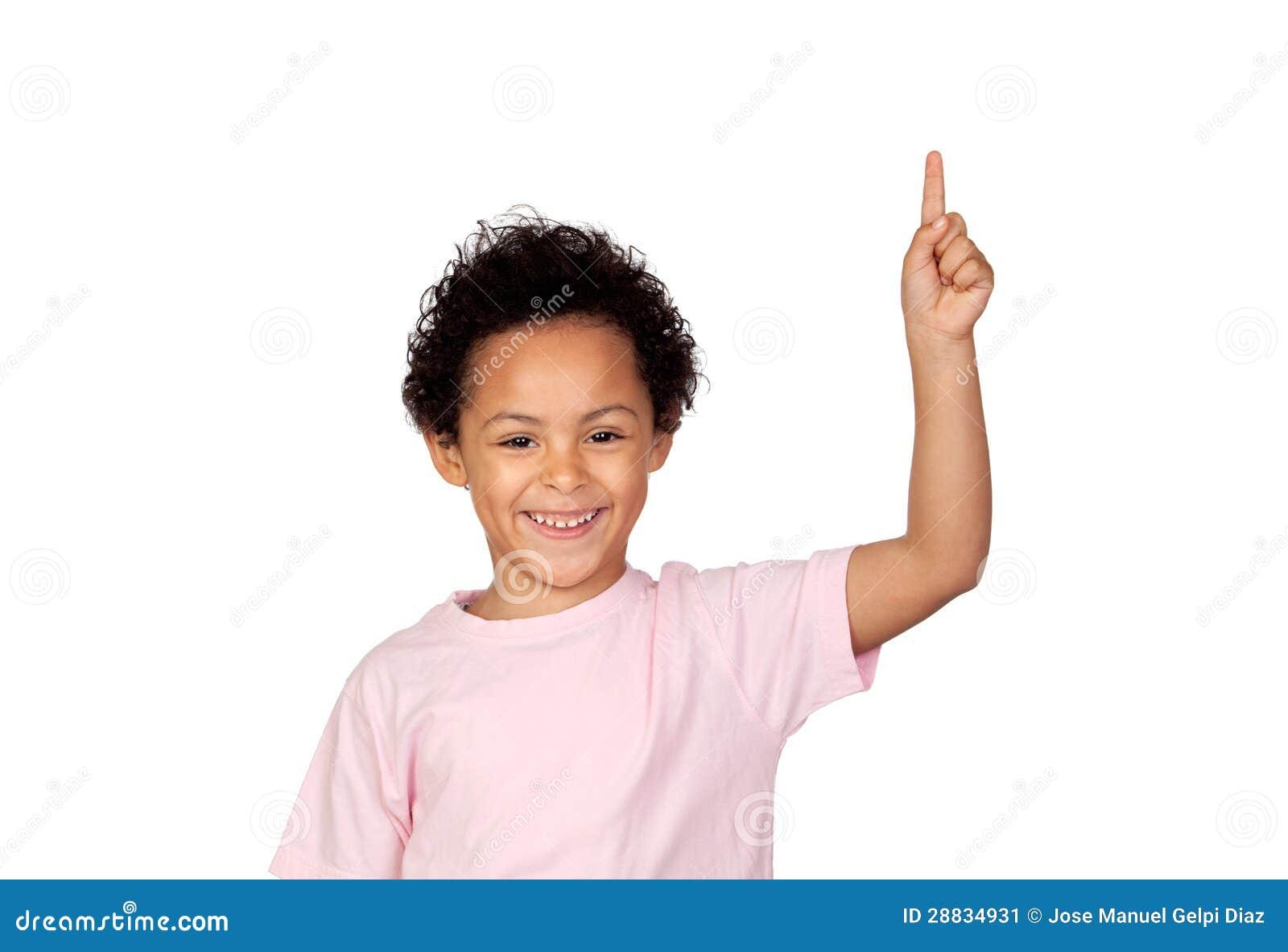 Happy Latin Child Asking To Speak Stock Image Image
