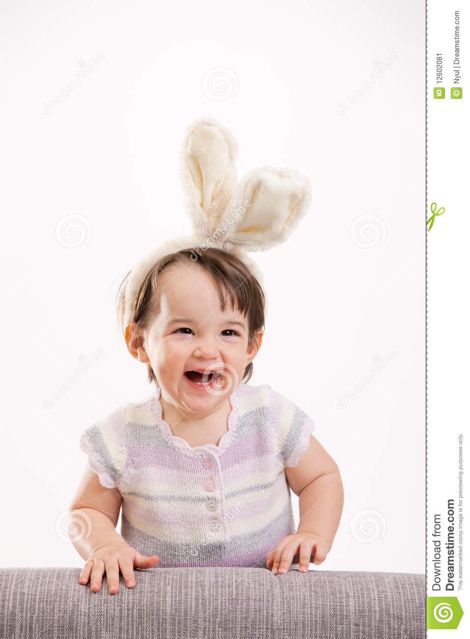 Happy Laughing Baby Girl Stock Image - Image: 12602081
