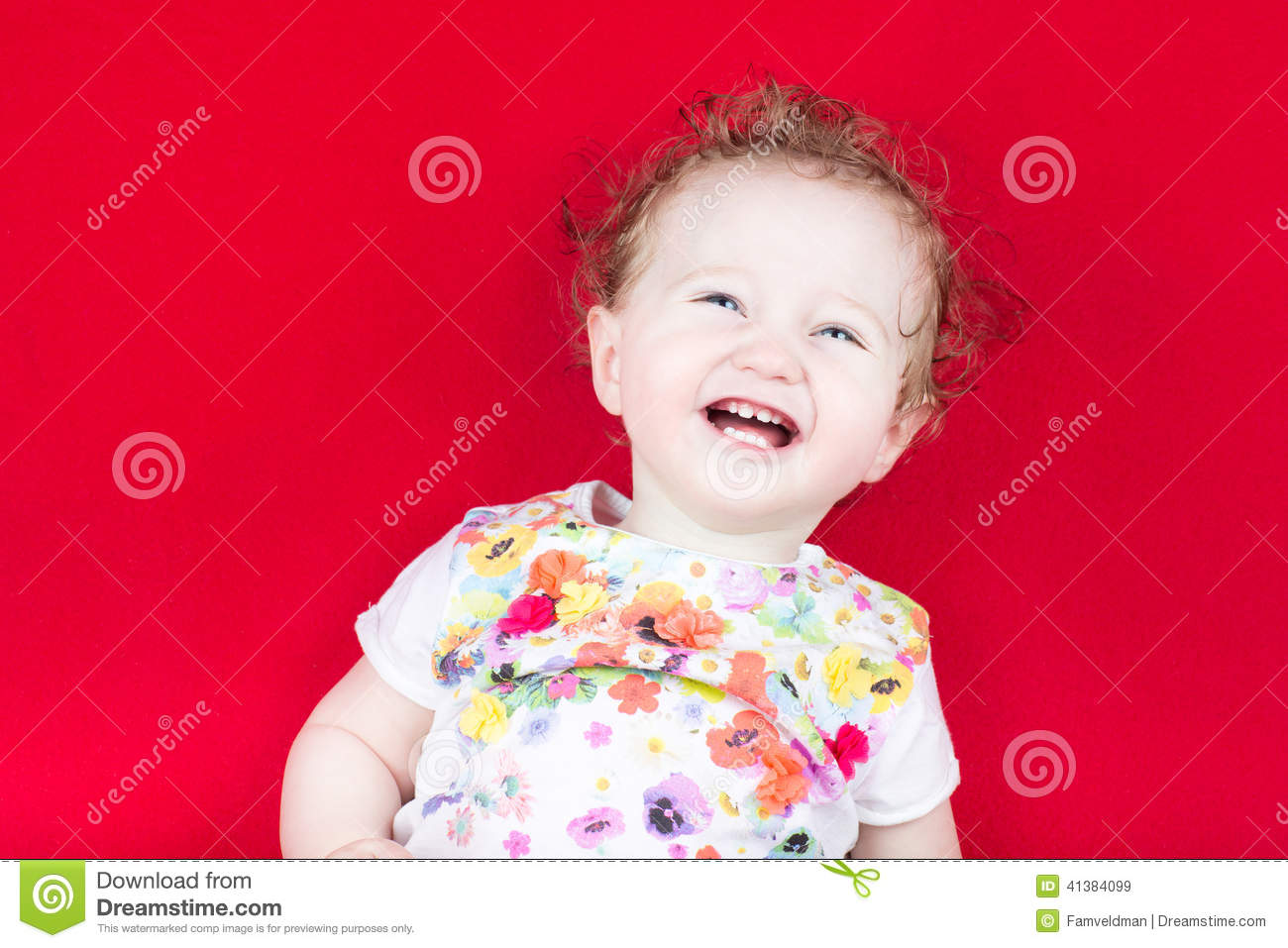 911c11901 Happy Laughing Baby On A Red Blanket Stock Image - Image of girl ...