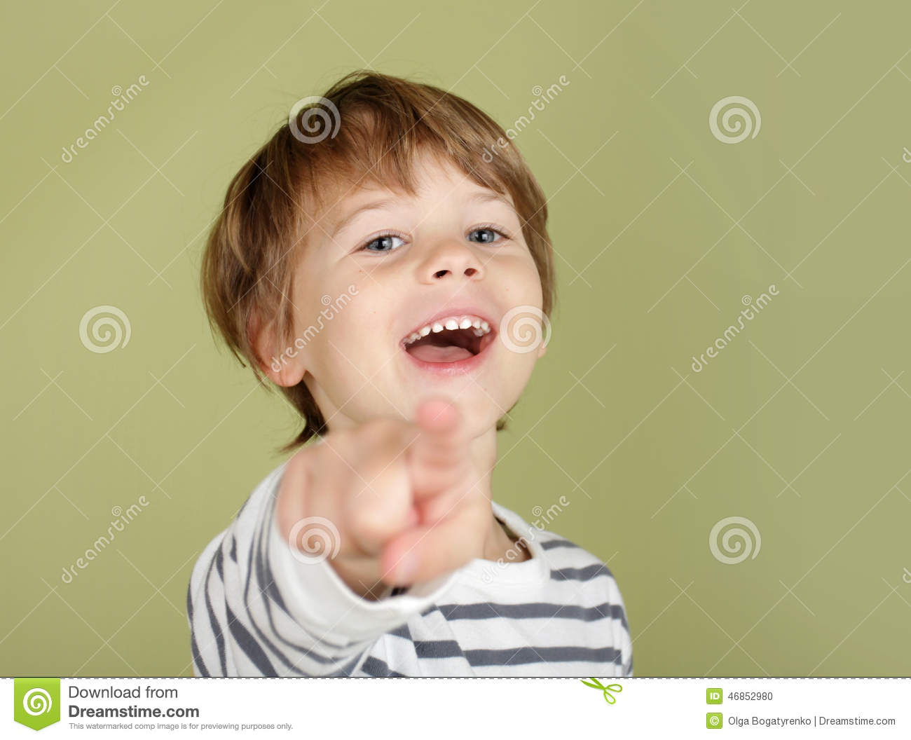 e7d390072b Happy Laughing Child Pointing Stock Photo - Image of happy ...
