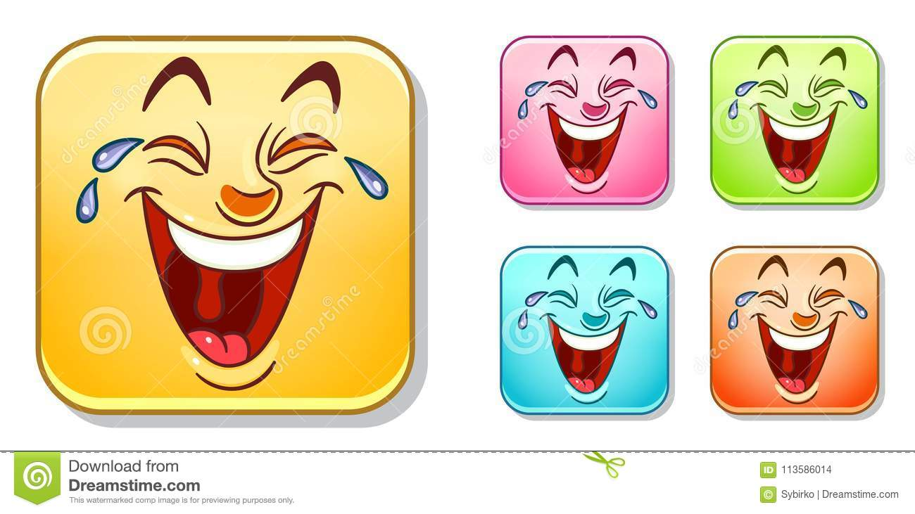 Happy laughing Emoticons Collection