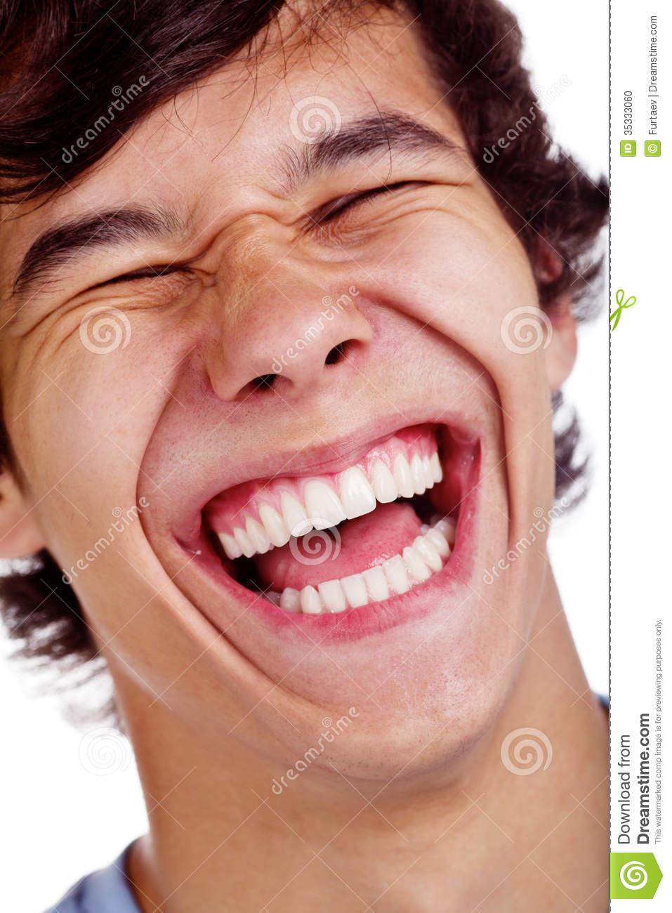Happy Laughing Face Closeup Stock Photo - Image: 35333060