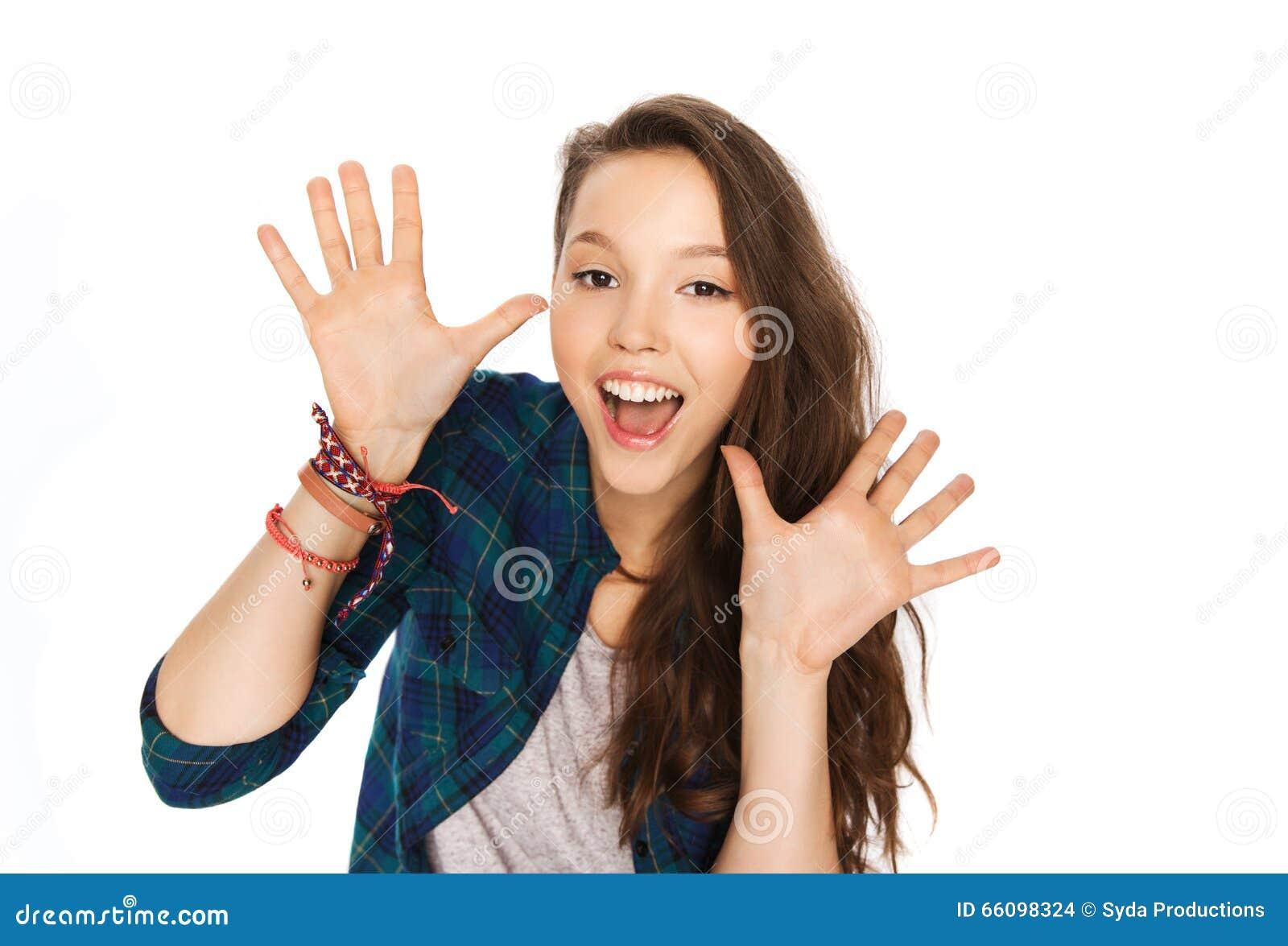 girl hands Teen photo