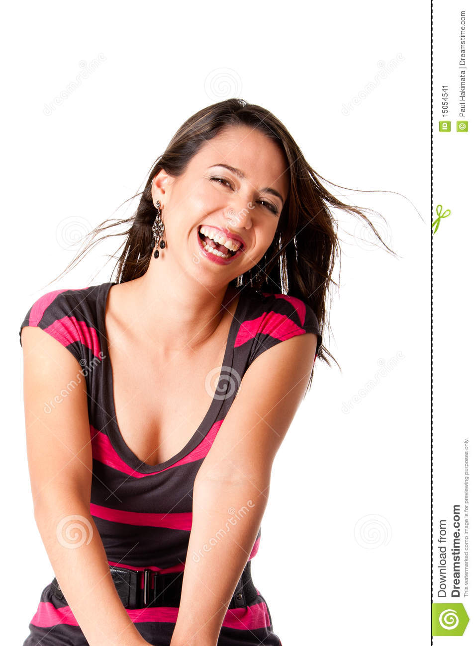 Happy laughing young woman
