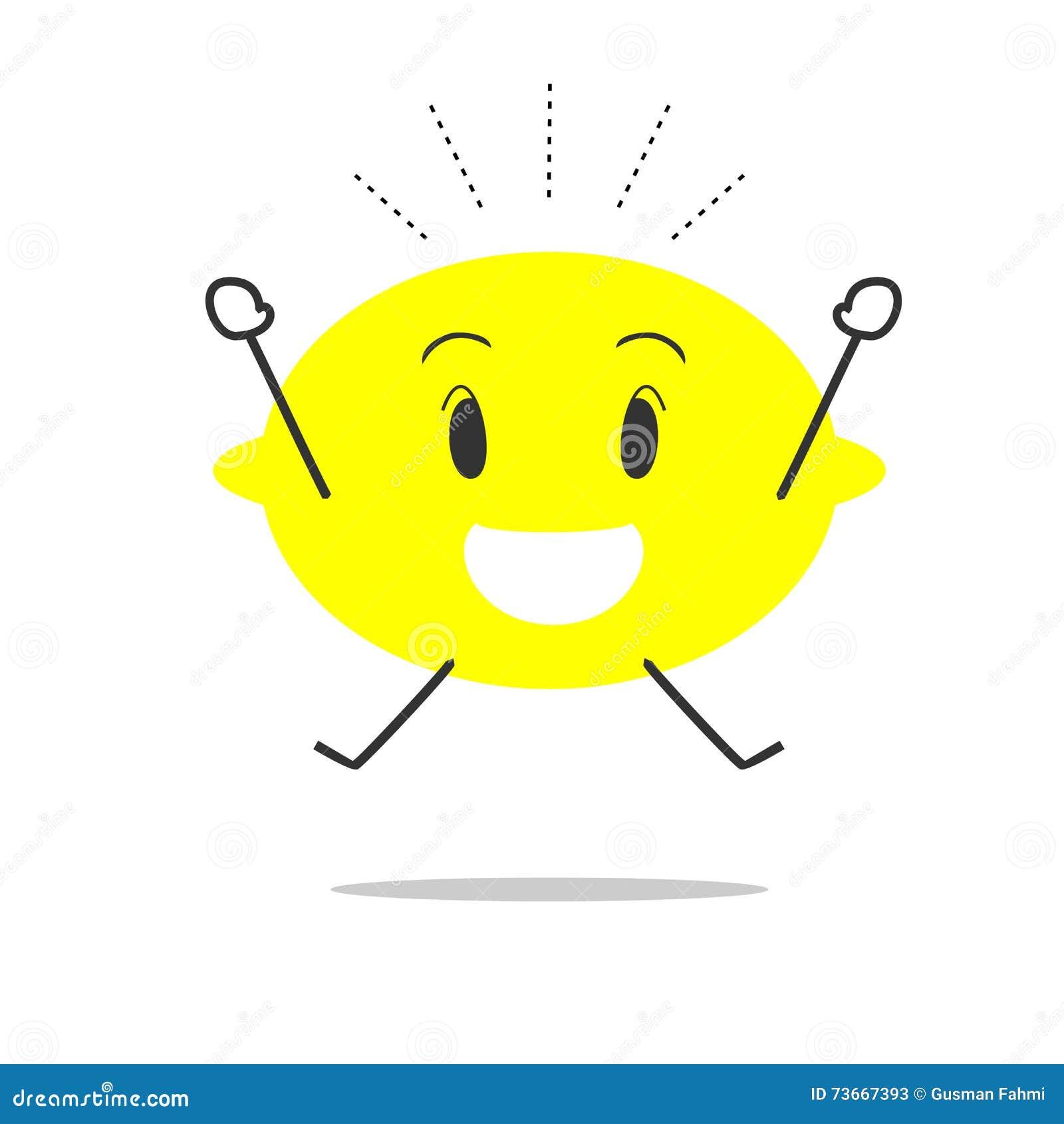happy lemon simple clean cartoon illustration stock vector image happy lemon simple clean cartoon illustration