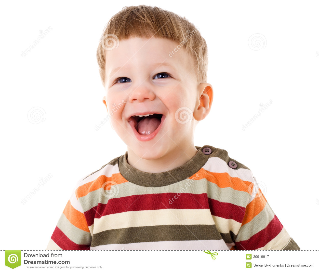 Happy Little Boy Stock Image. Image Of Caucasian