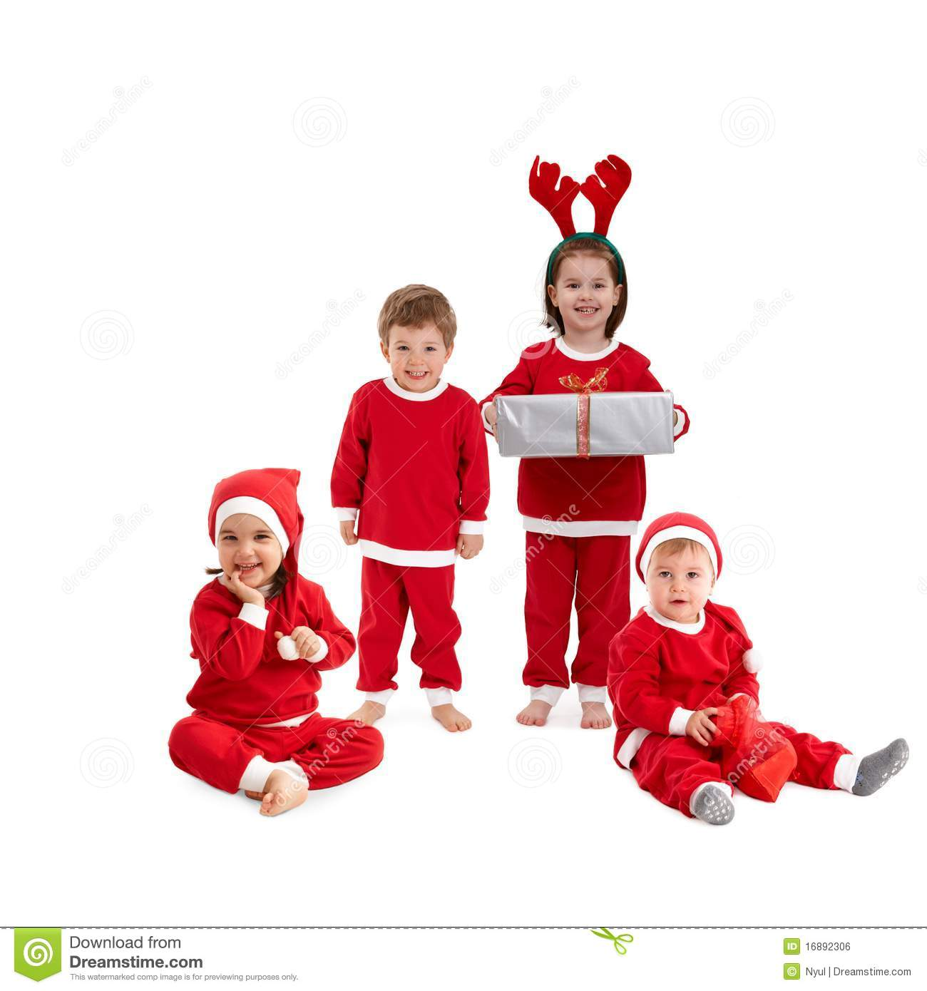 Download comp  sc 1 st  Dreamstime.com & Happy Little Children In Santa Costume Stock Photo - Image of girls ...